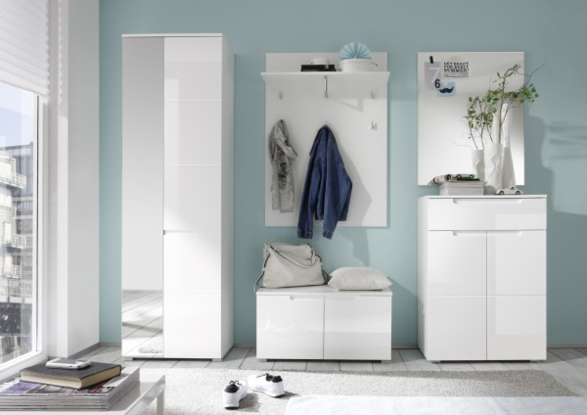 Garderobenbank SPICE inDoor Holzwerkstoff weiß 40 x 43 x 80 cm