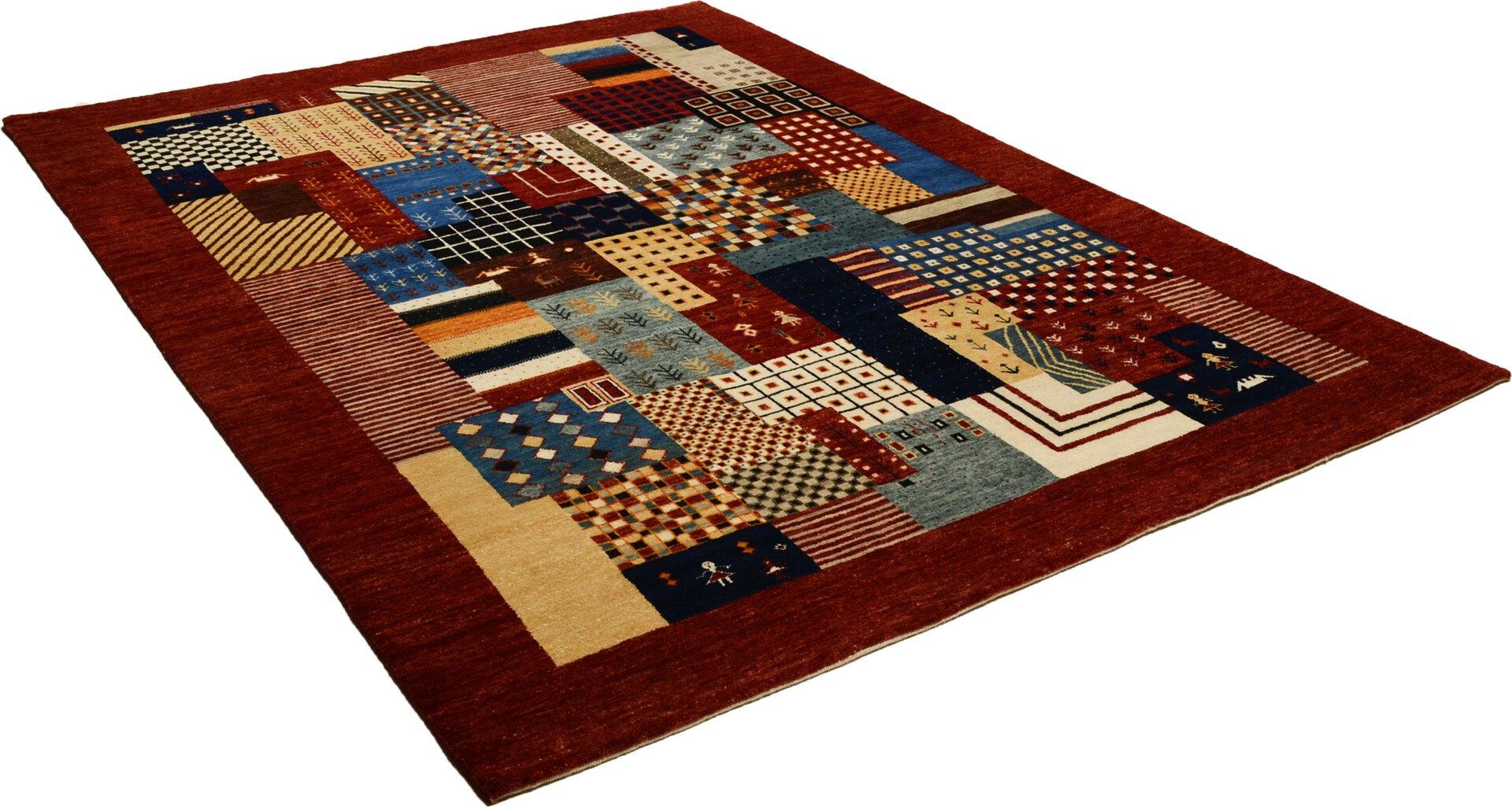 Handknüpfteppich Astara Lori Theko Textil rot