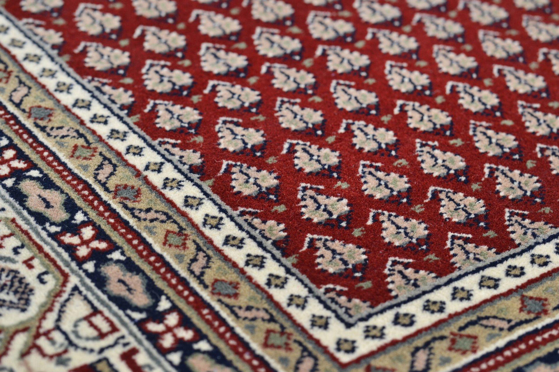 Handknüpfteppich Abbas Meraj Theko Textil rot 1 cm