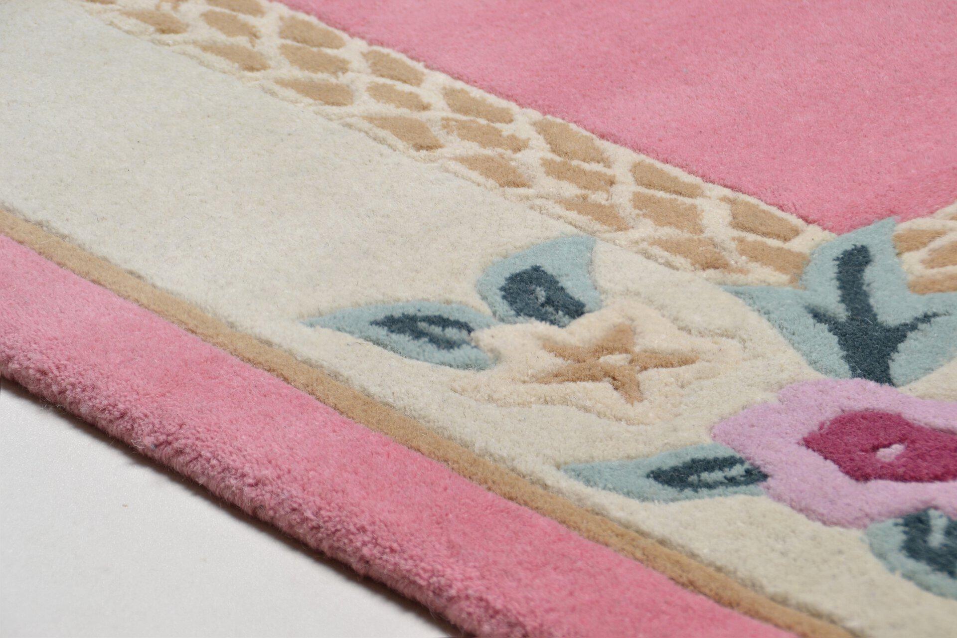 Handtuftteppich Lifou Theko Textil rosa 1 cm
