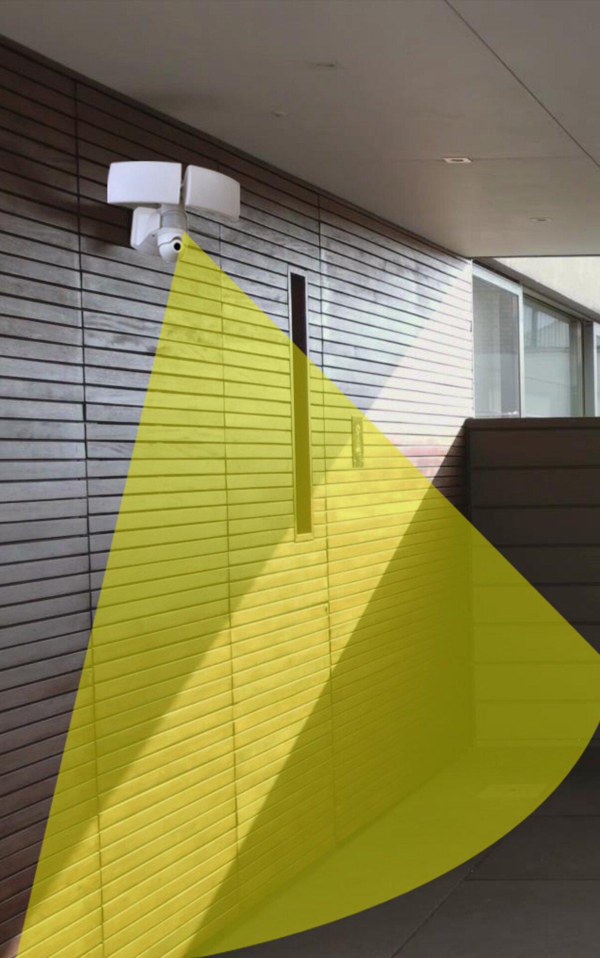Wand-Aussenleuchte Libra Cam Eco-Light Metall weiß 31 x 26 x 20 cm