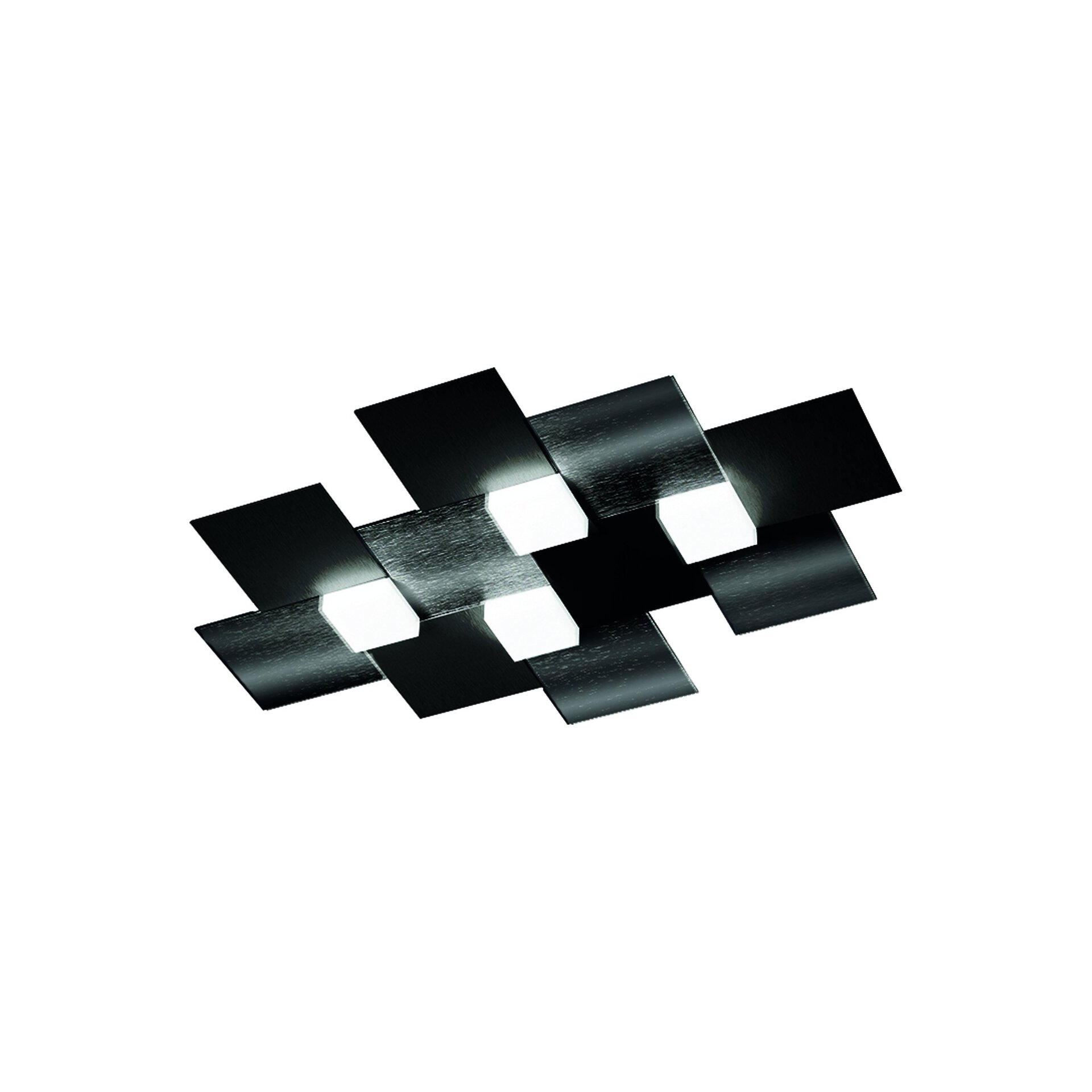 Deckenleuchte creo Grossmann Metall schwarz 39 x 5 x 55 cm