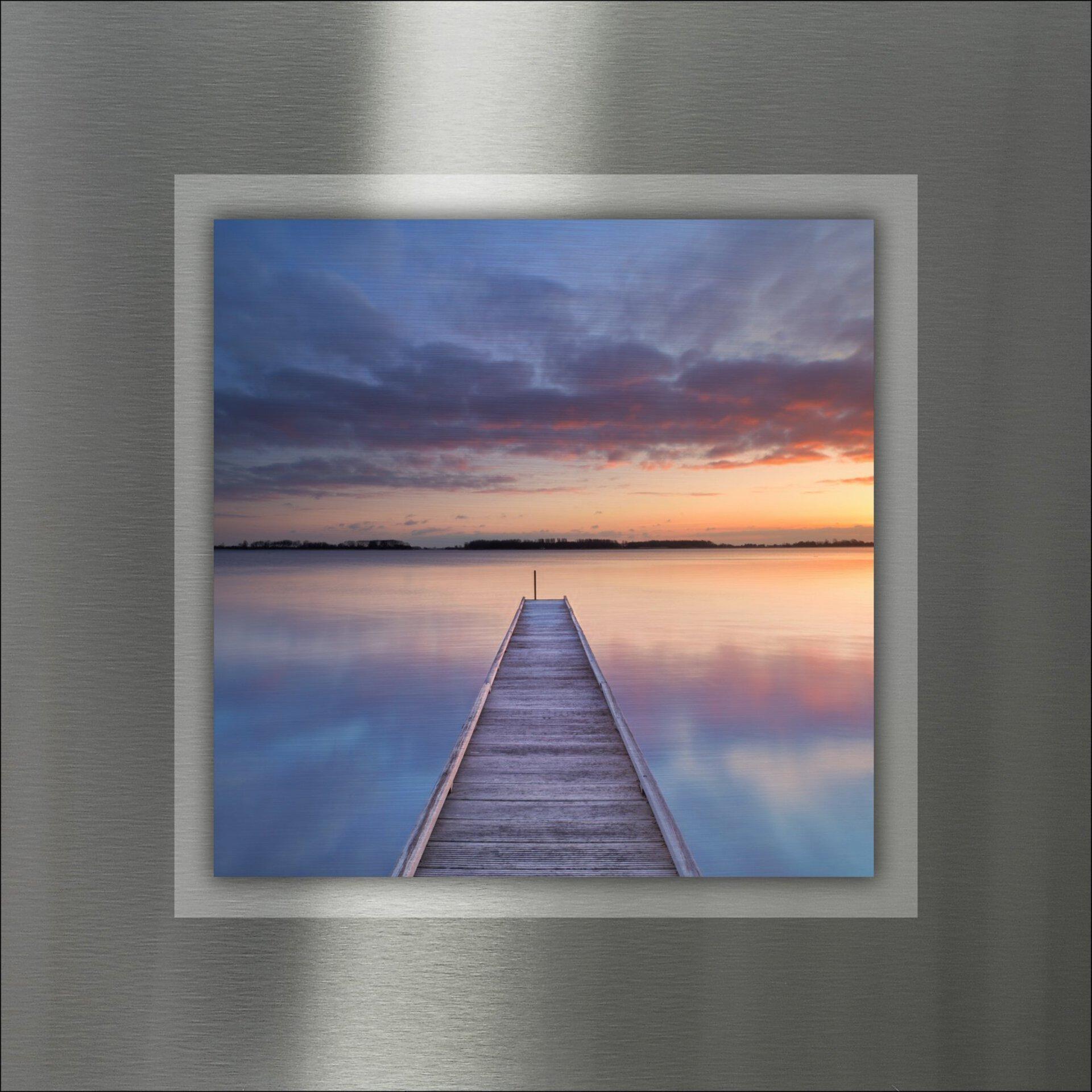 Bild Way To Sundown I Pro-Art Metall 50 x 50 x 1 cm