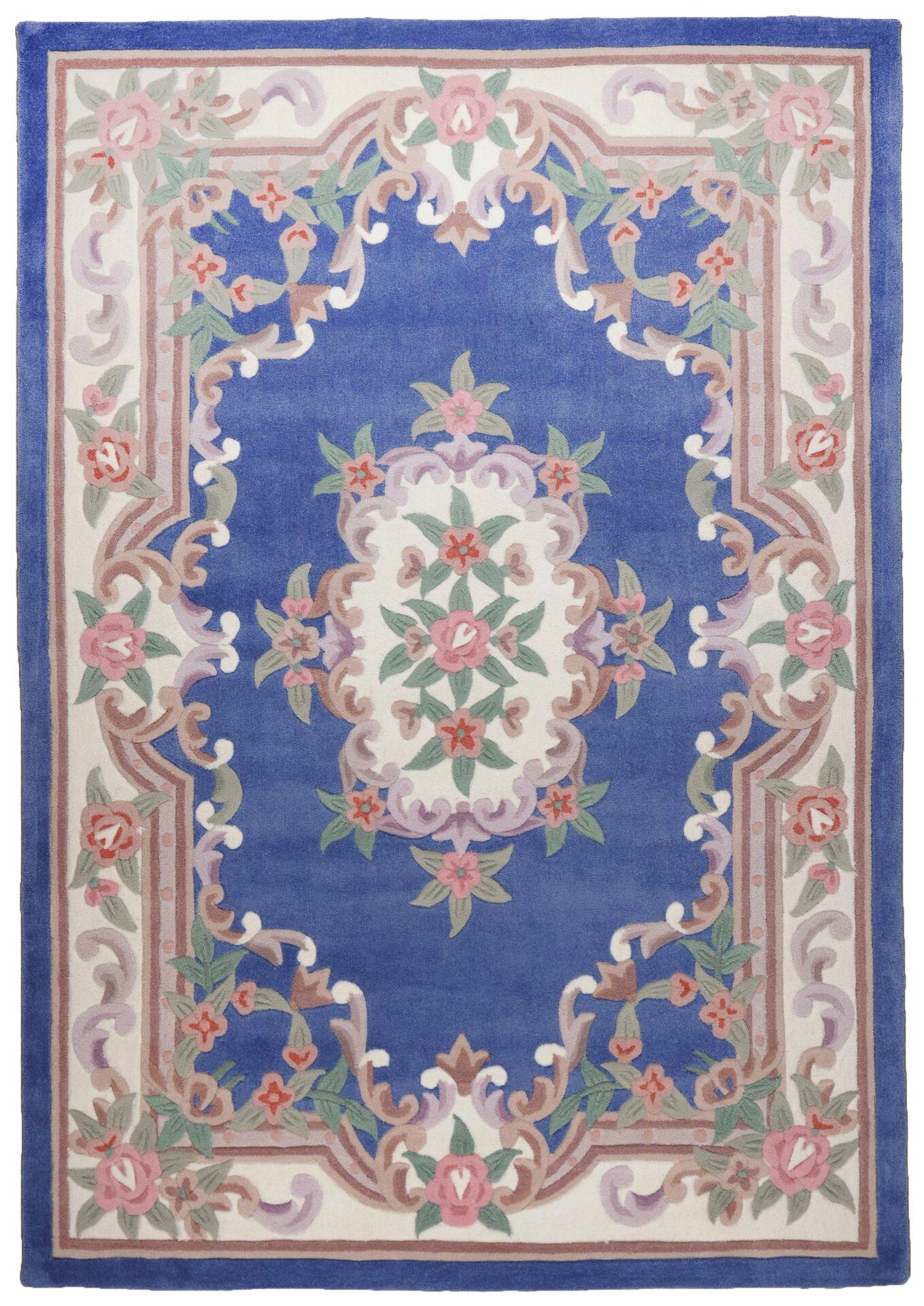 Handtuftteppich Ming Theko Textil Blau 1 x 1 cm
