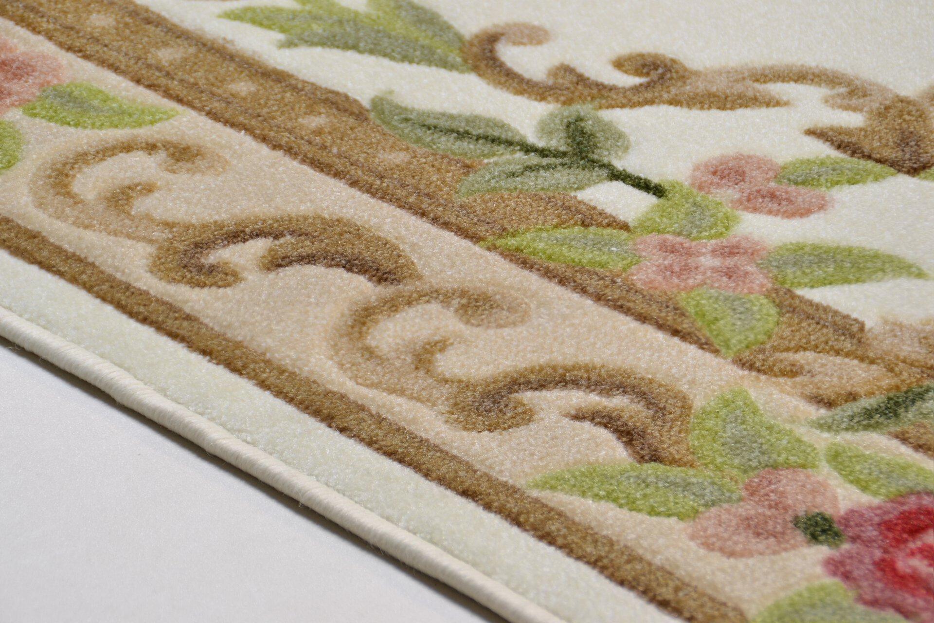 Maschinenwebteppich Versailles Theko Textil braun 1 cm