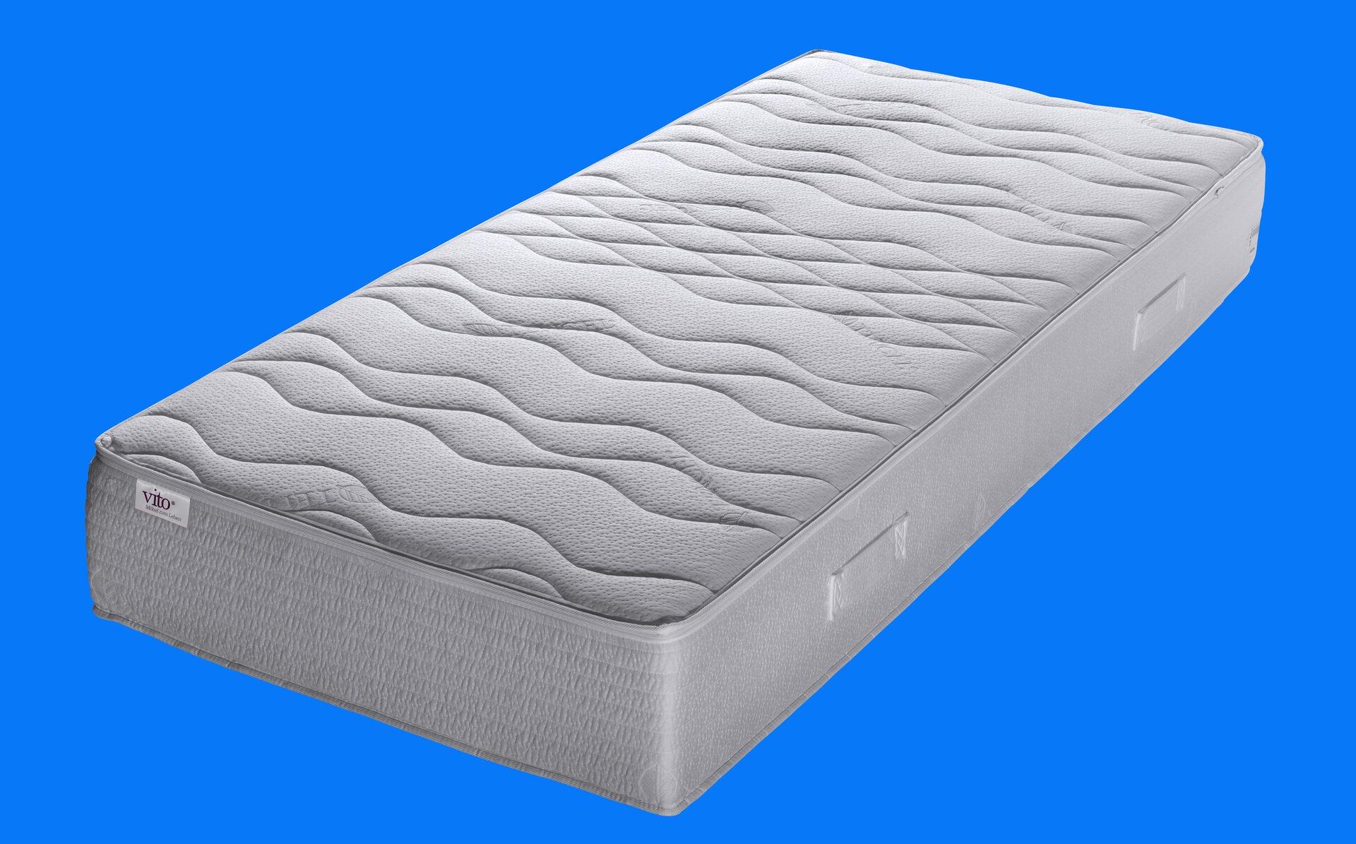 Taschenfederkernmatratze Sensio De Lux Vito Textil weiß 160 x 26 x 200 cm