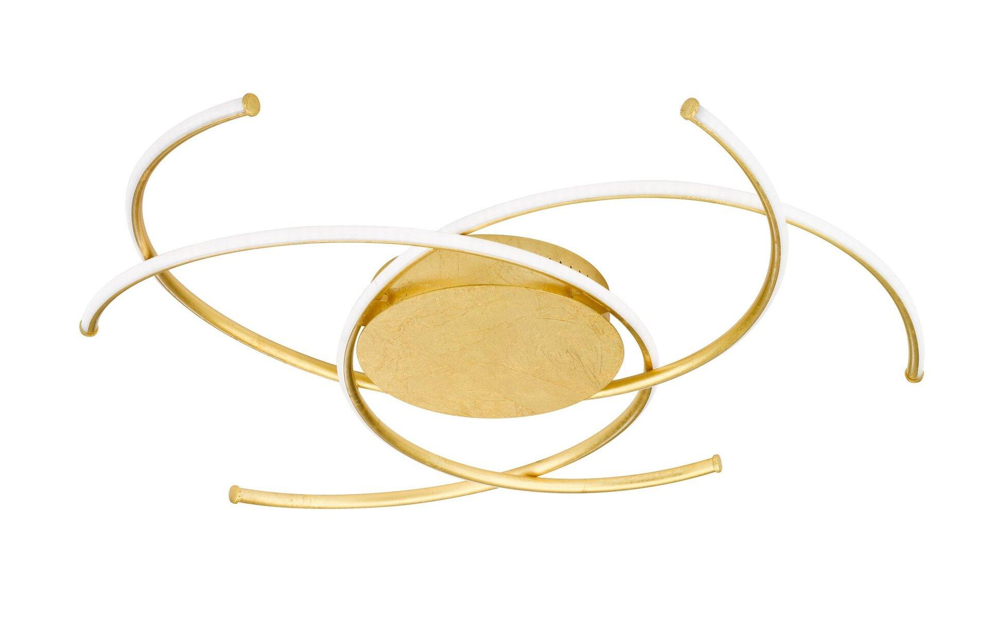 Deckenleuchte Juls Wofi Leuchten Metall gold 72 x 16 x 72 cm