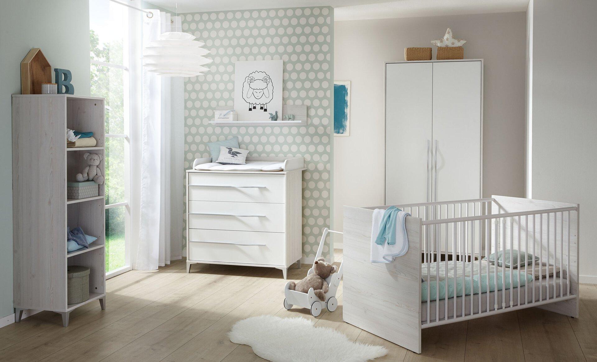Wandbord LOVELY BABY KORVIN inbuy Holzwerkstoff grau 20 x 20 x 95 cm