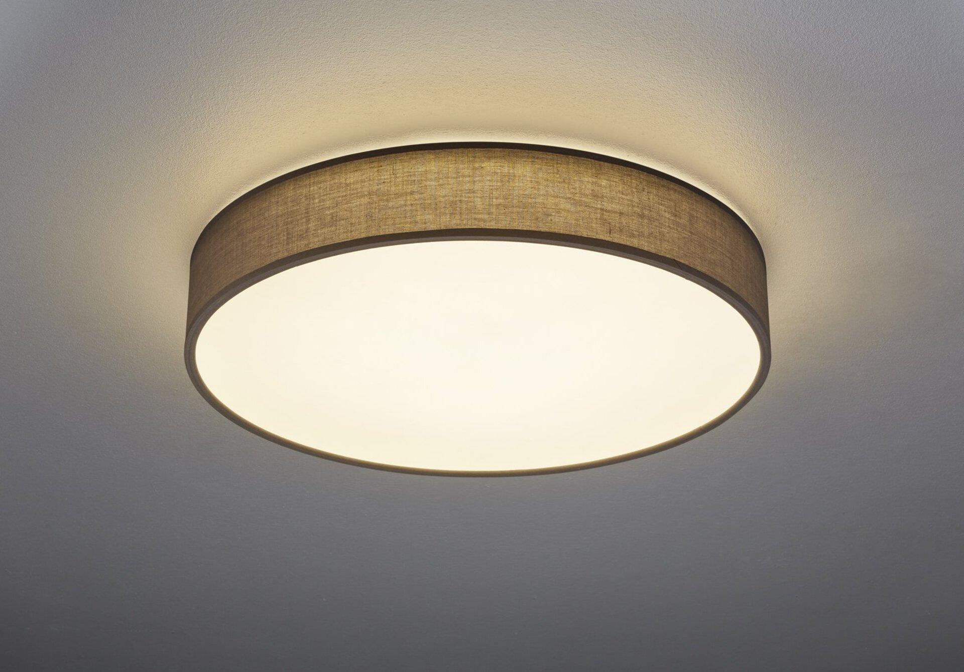 Deckenleuchte Lugano Trio Leuchten Metall 60 x 10 x 60 cm