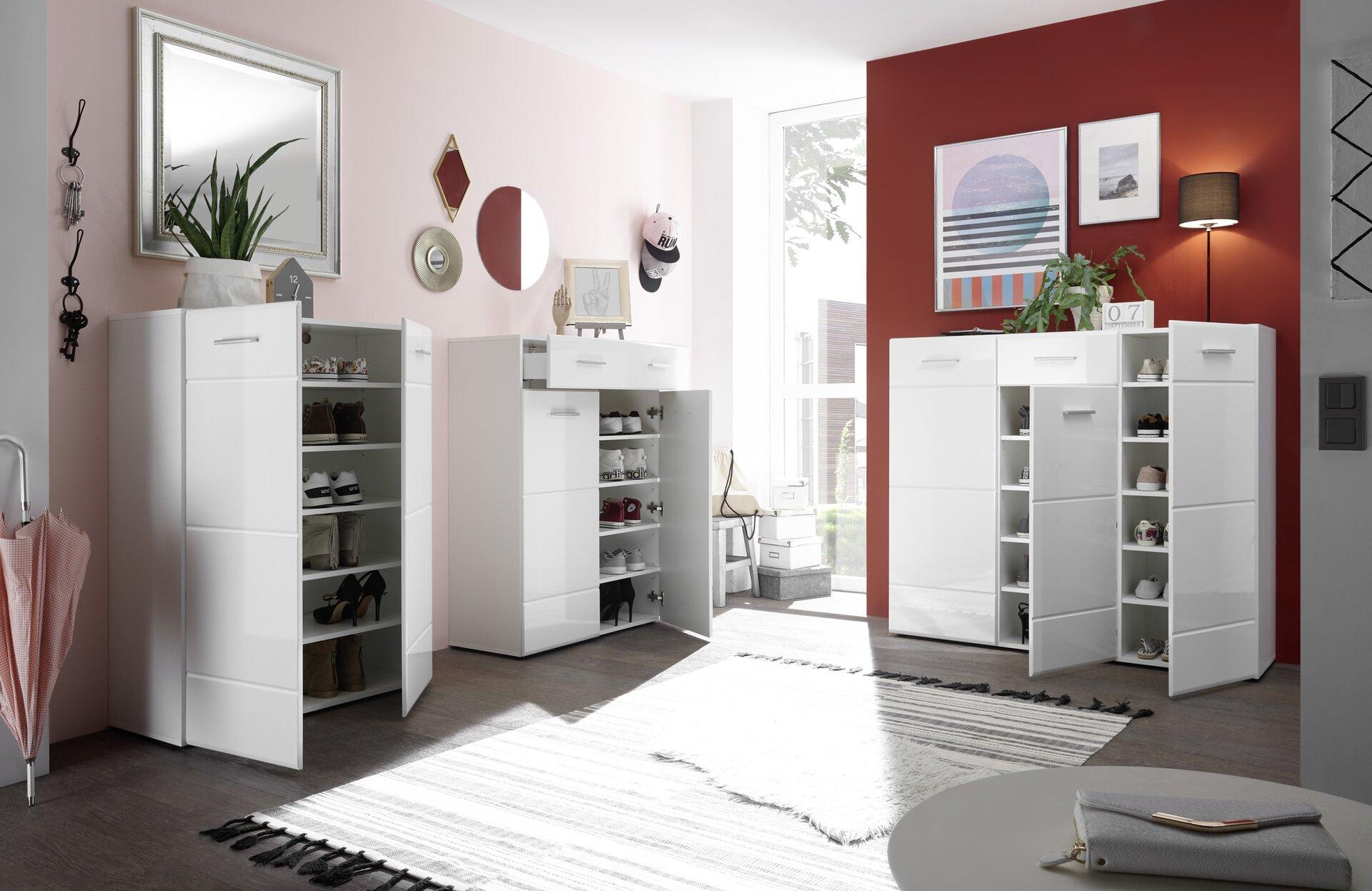 Schuhschrank ORLANDO inDoor Holzwerkstoff 40 x 122 x 135 cm
