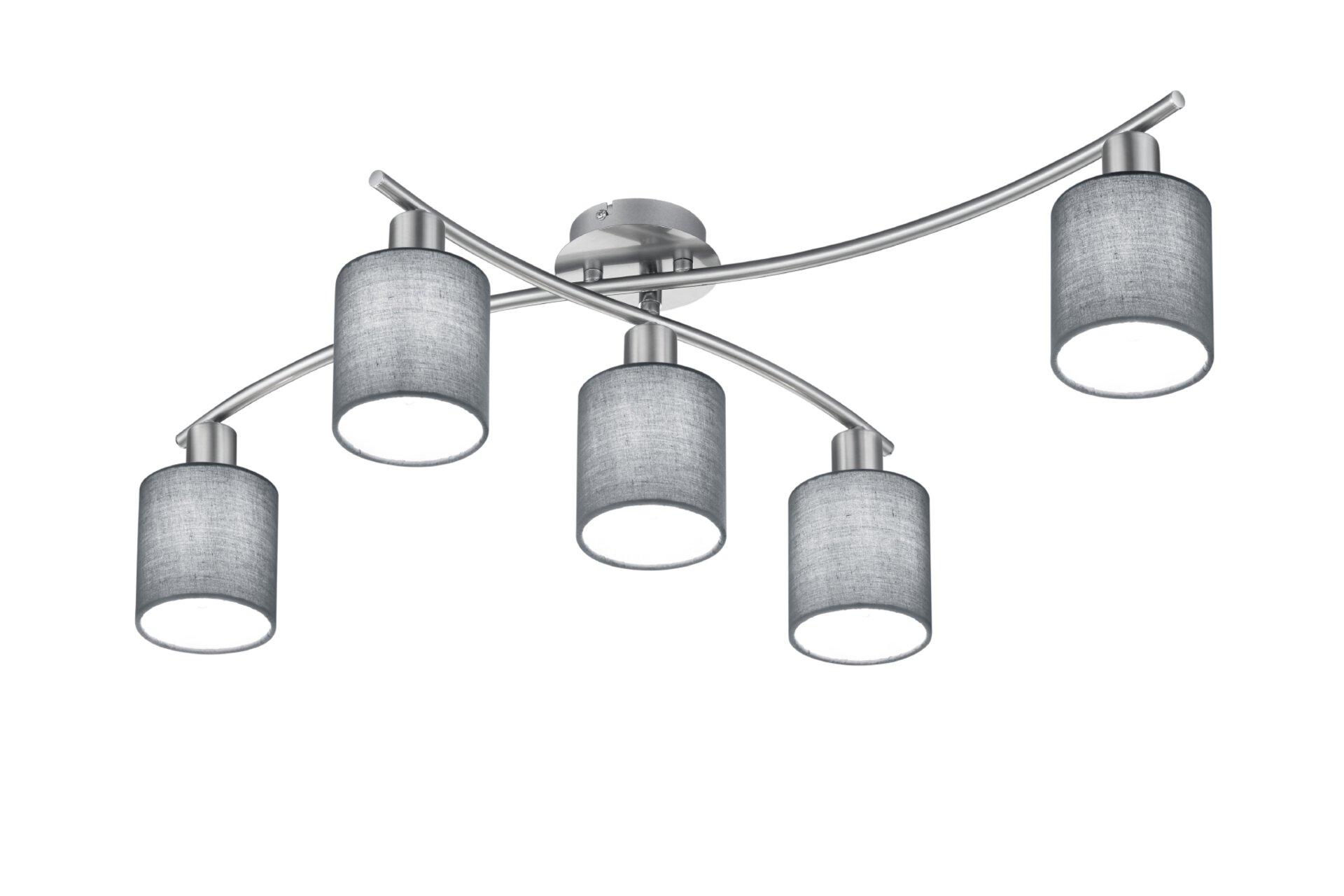 Deckenleuchte Garda Trio Leuchten Metall silber 20 x 24 x 80 cm