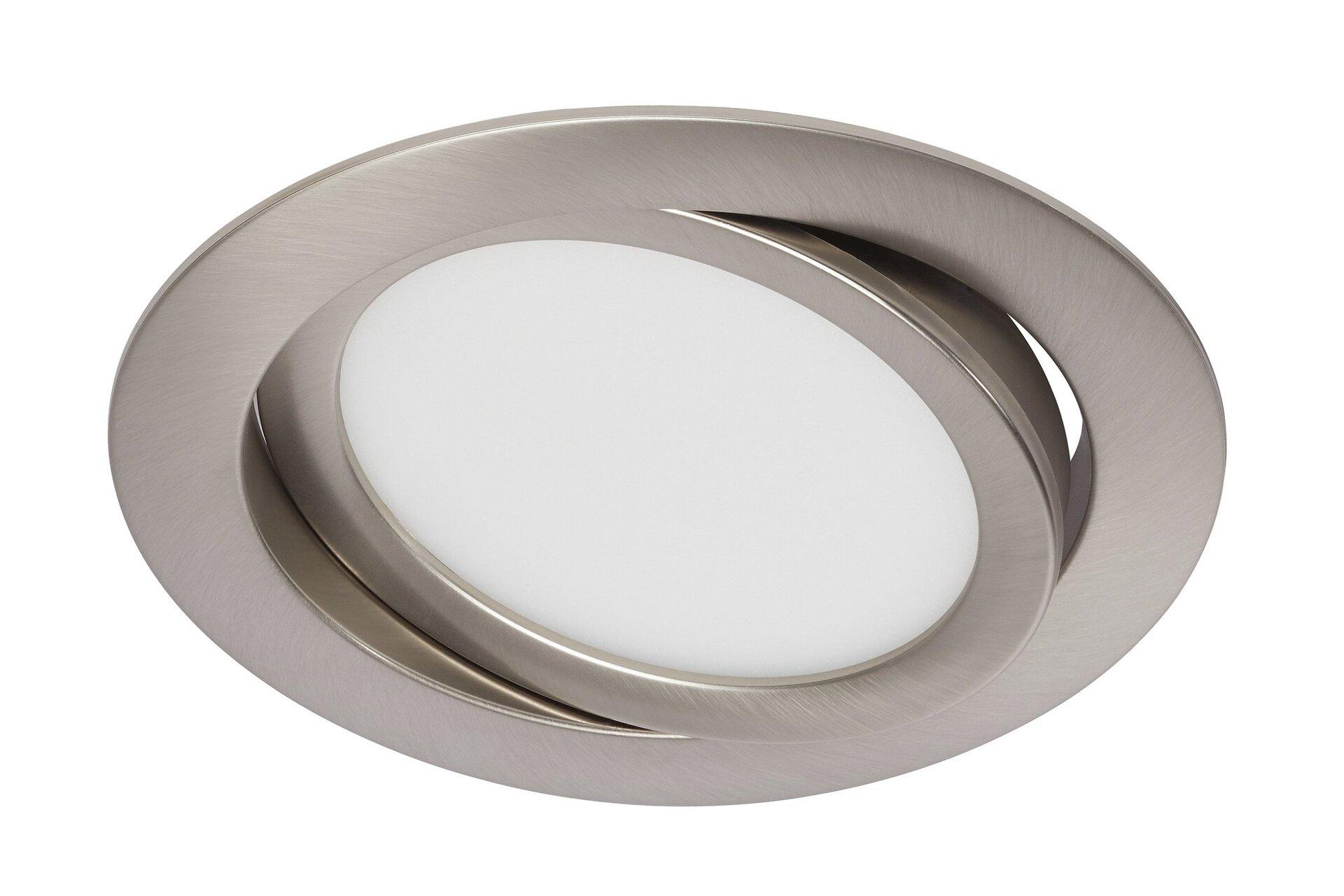 Einbauspot Flat In Briloner Metall silber 14 x 3 x 14 cm