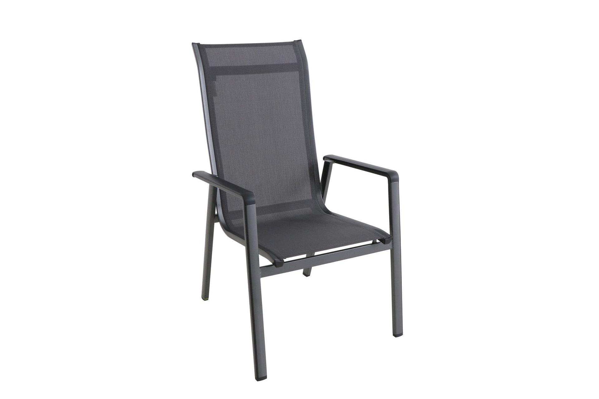 Stapelstuhl KEDLINE Outdoor Textil schwarz 65 x 98 x 69 cm