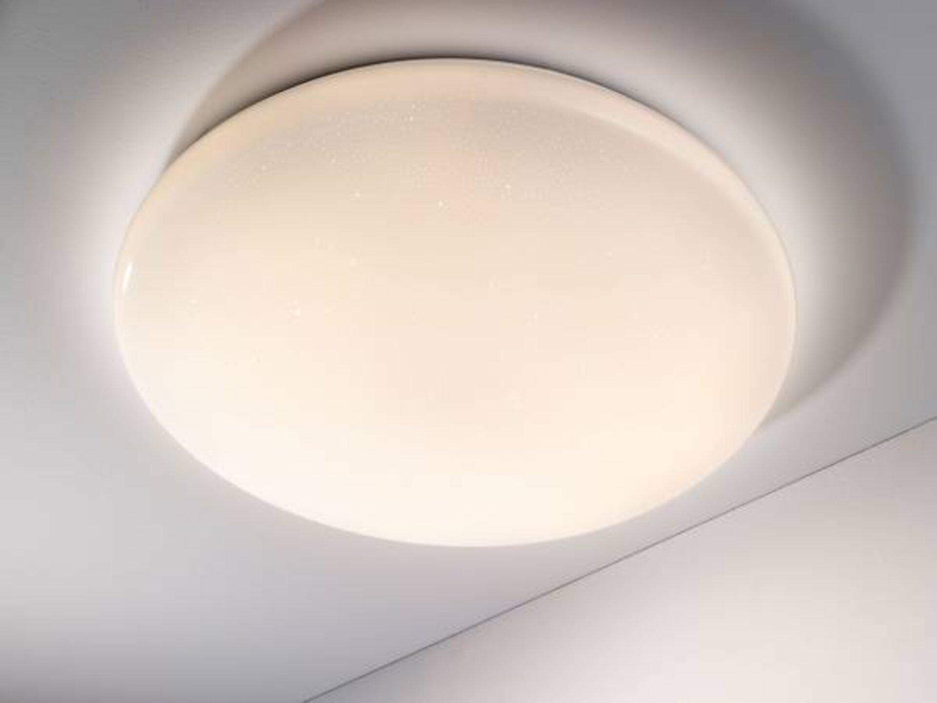 Deckenleuchte Agadir Plus Casa Nova Kunststoff weiß 76 x 10 x 76 cm