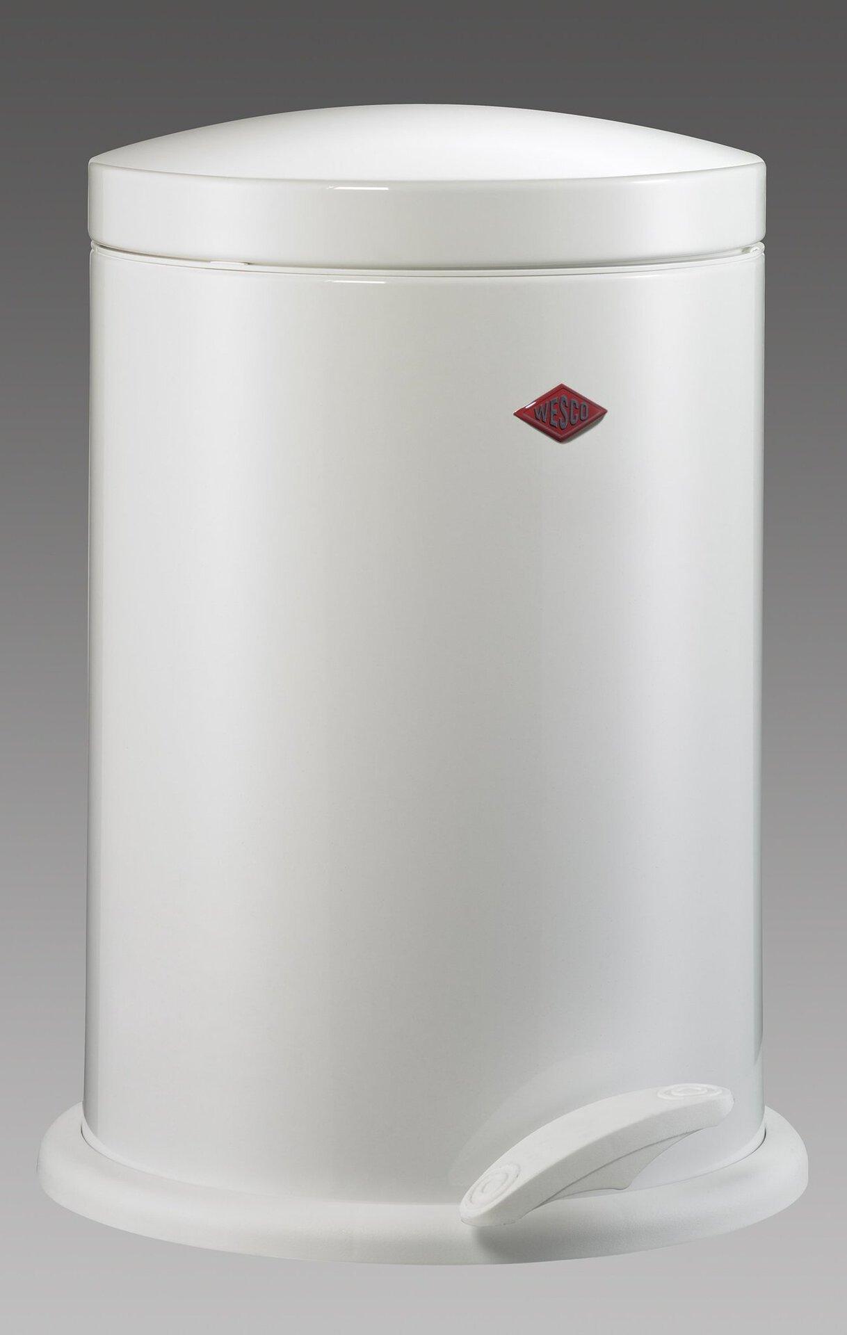 Müllbehälter Base Wesco Metall weiß