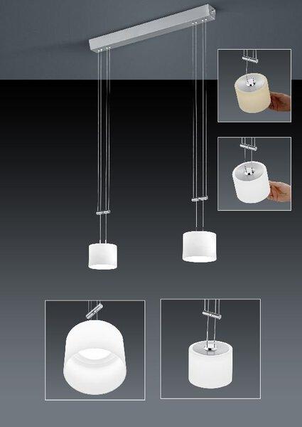 Smart-Home-Leuchten Bankamp Metall nickel, chrom ca. 22 cm x 150 cm x 71 cm