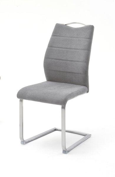 Freischwinger MCA furniture Metall, Textil Stoff grau ca. 57 cm x 99 cm x 45 cm