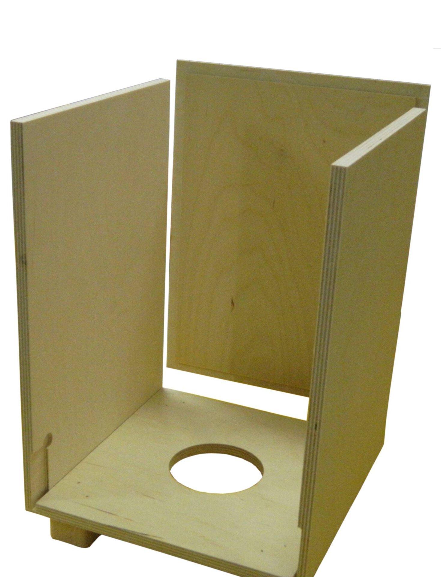 Hocker Loungehocker Baff Holz braun 32 x 49 x 32 cm