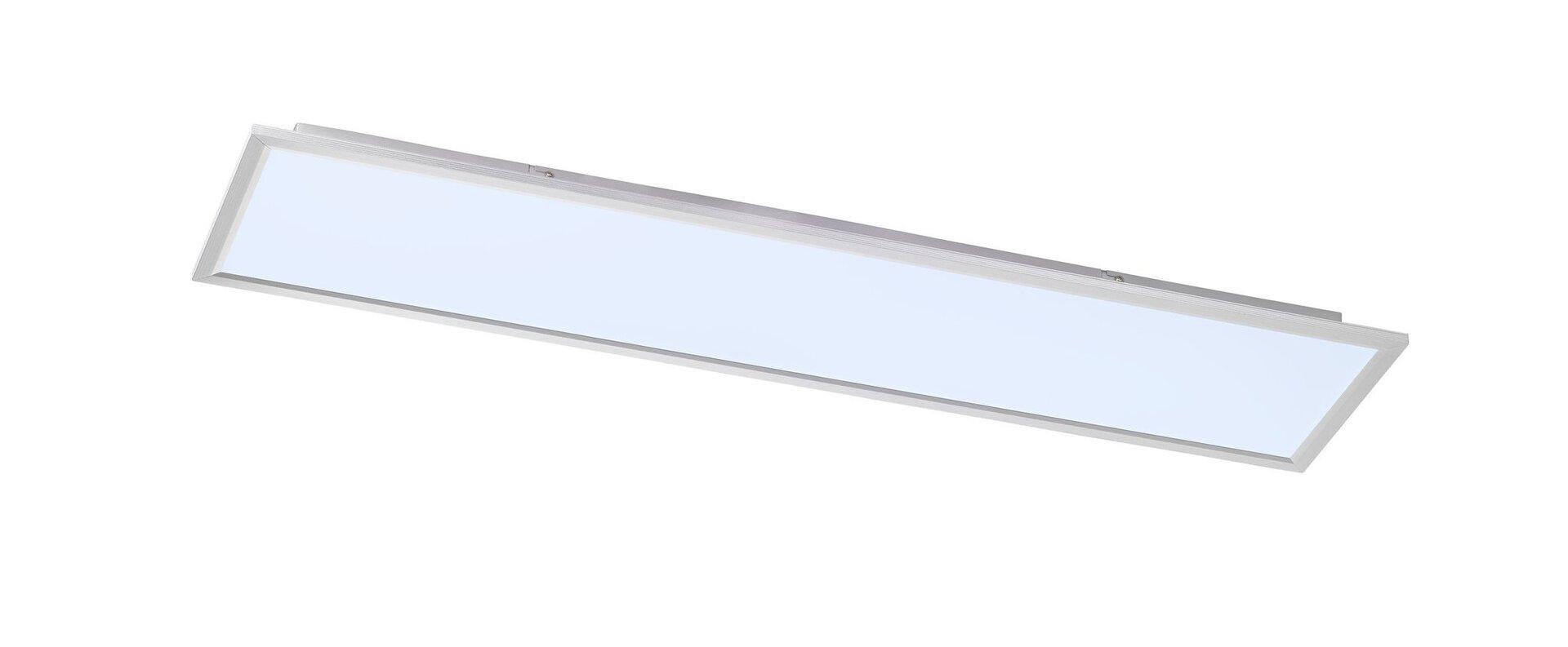 Deckenleuchte Liv Wofi Leuchten Kunststoff silber 30 x 6 x 120 cm