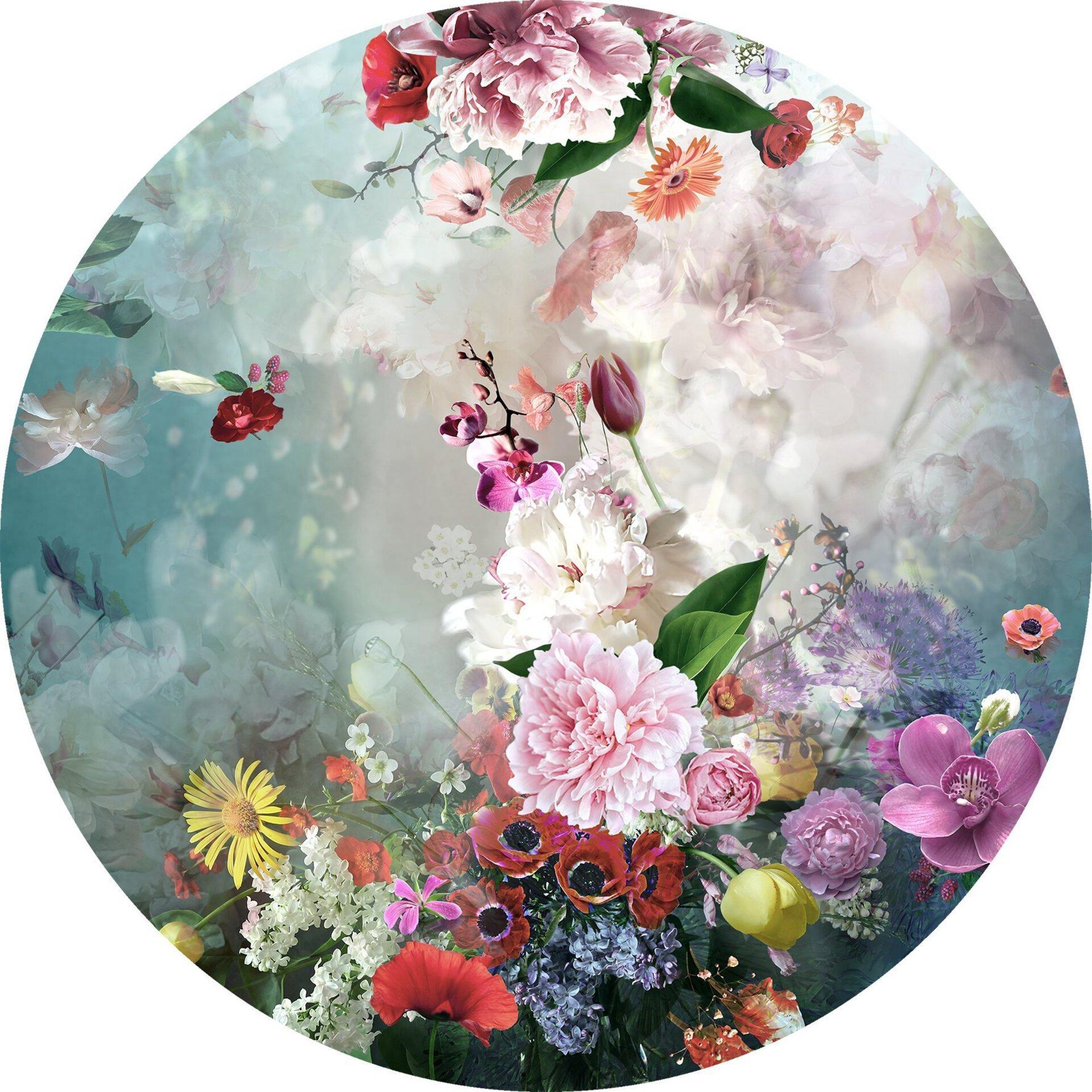 Bild Colourful Baroque Flowermix l Pro-Art Glas mehrfarbig 30 x 30 x 1 cm