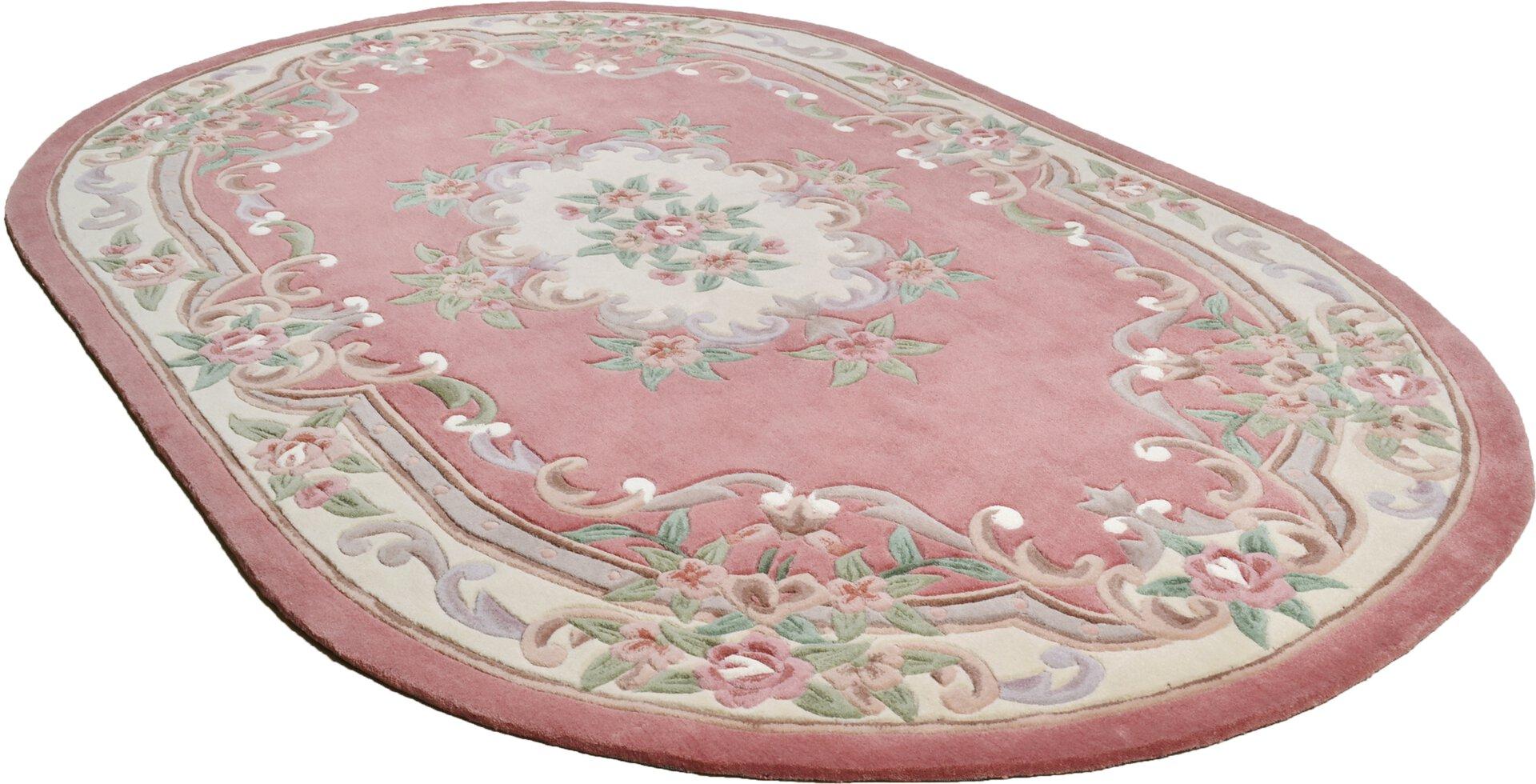 Handtuftteppich Ming Theko Textil rosa 1 x 1 cm