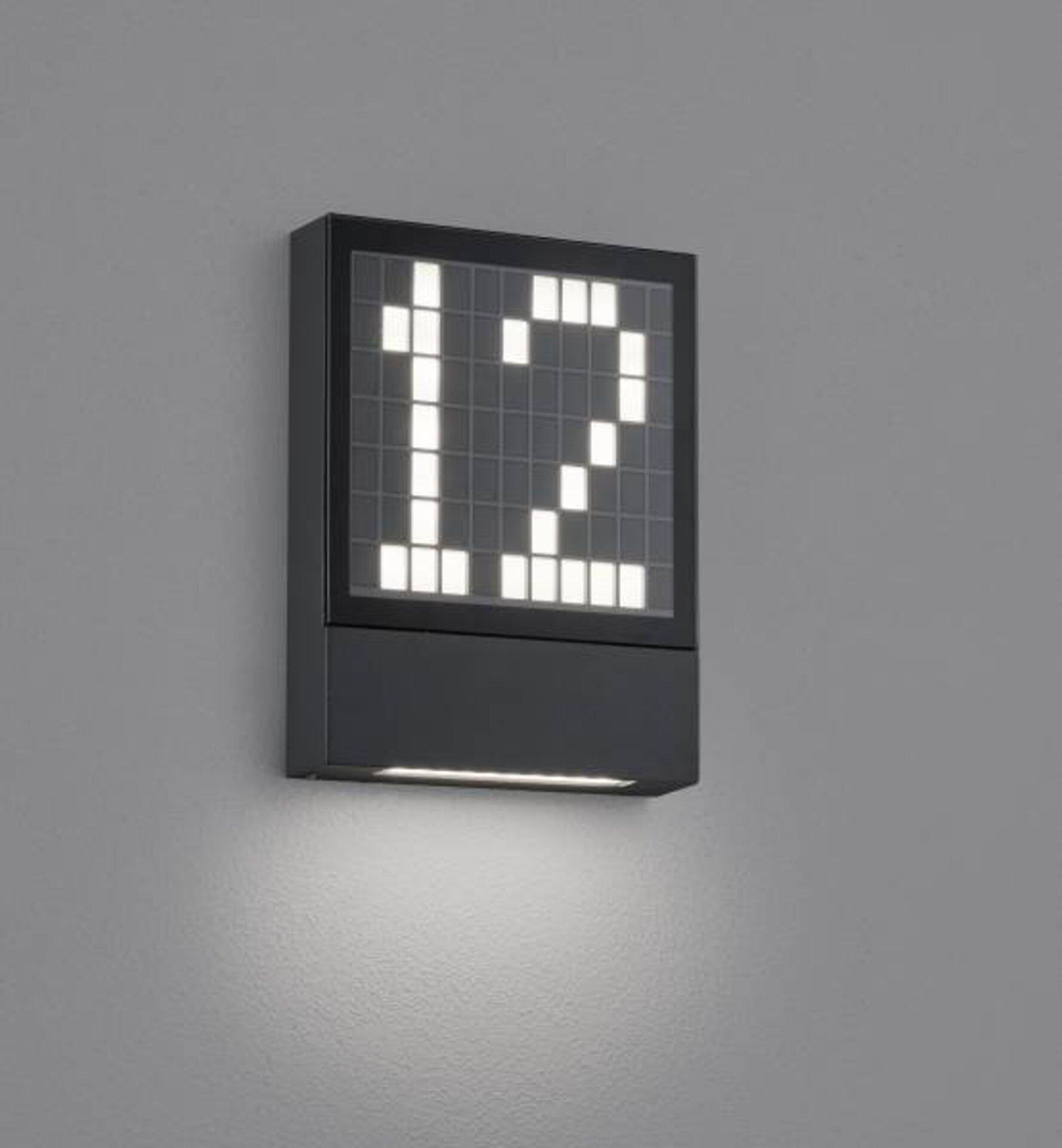 Wand-Aussenleuchte DIAL Helestra Leuchten Metall 15 x 4 x 20 cm