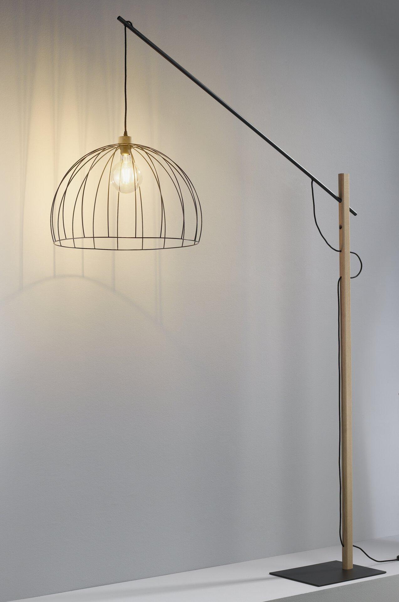 Stehleuchte MANDARINE MONDO Metall schwarz 200 x 160 cm