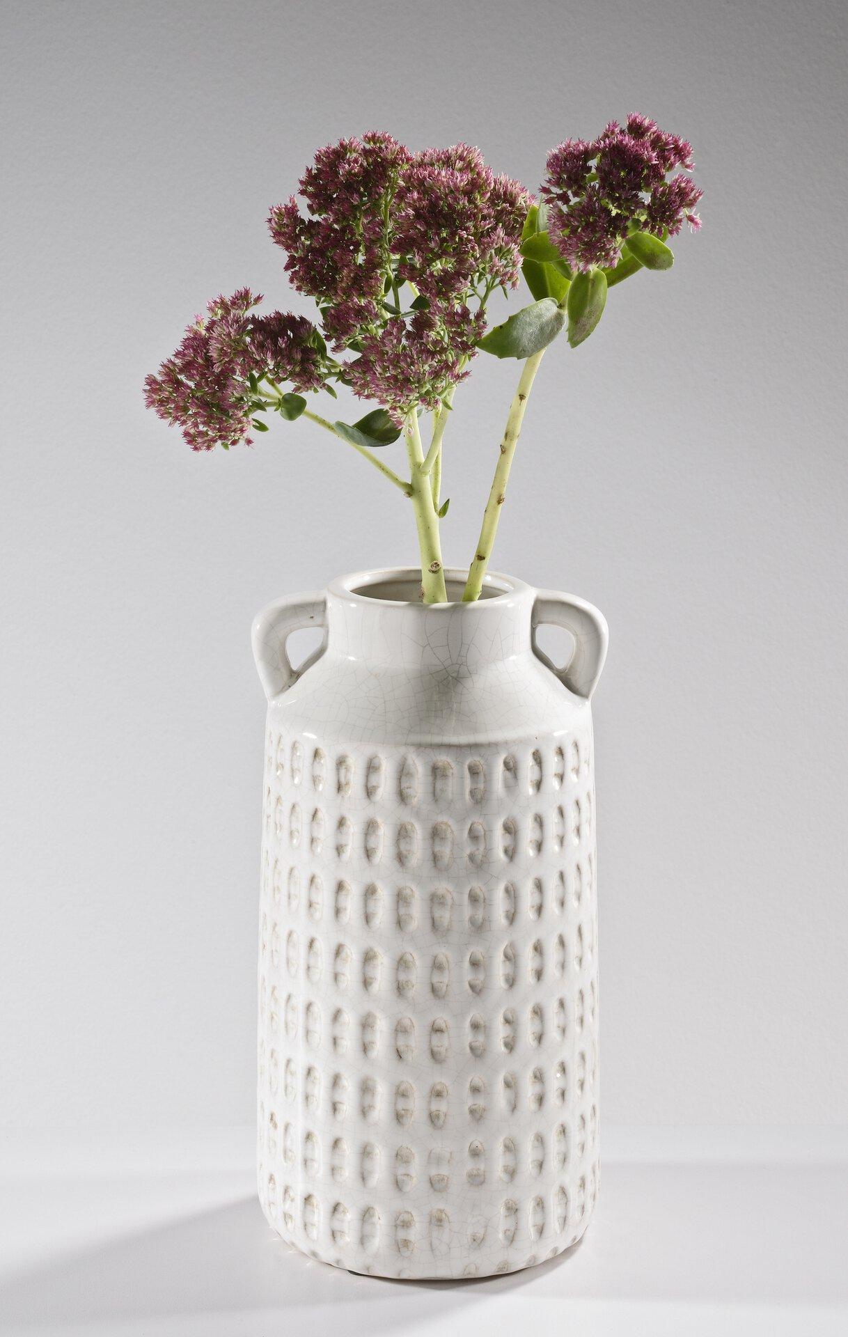 Vase 185111 Casa Nova Keramik weiß 17 x 30 x 15 cm