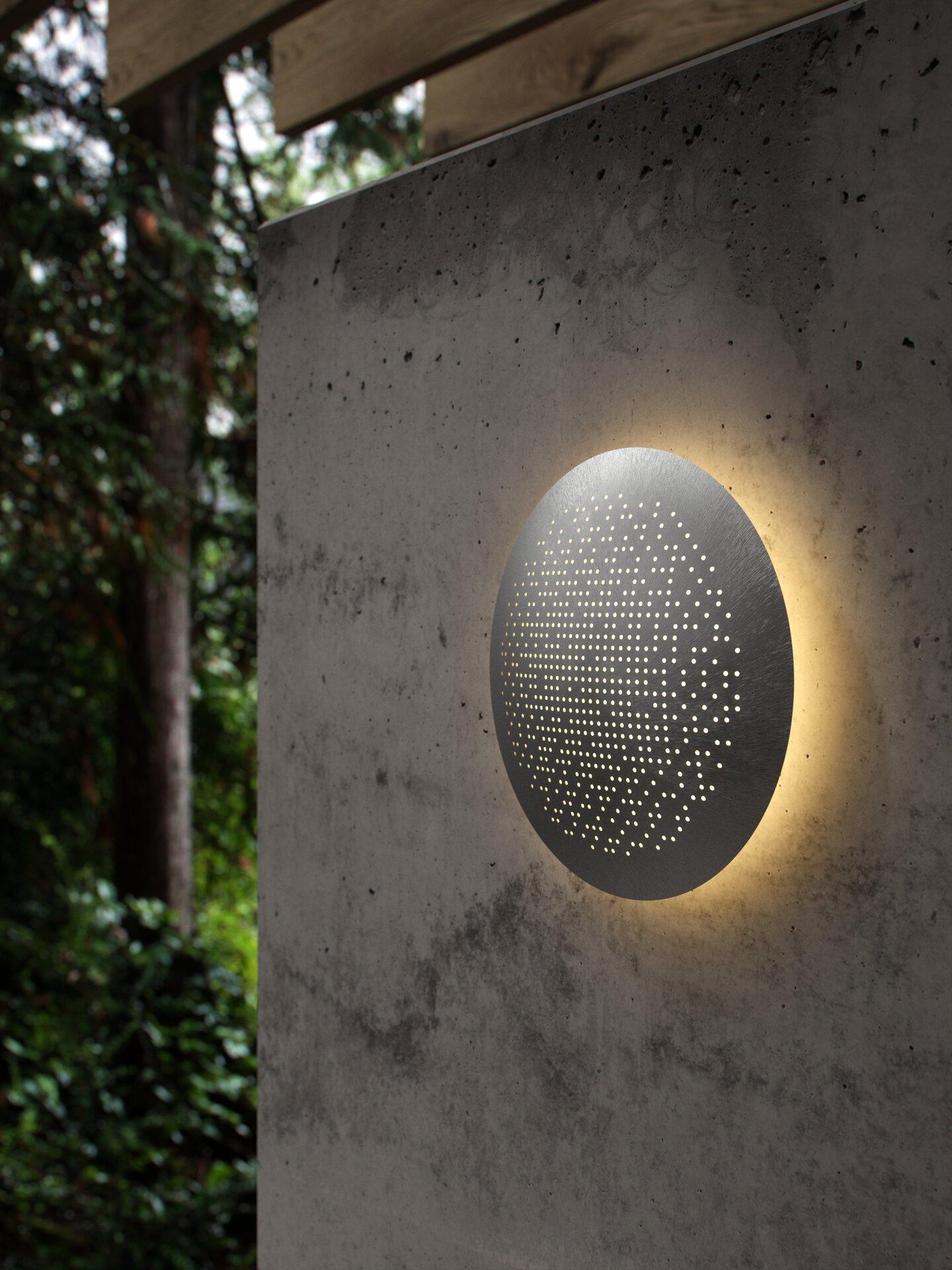 Wand-Aussenleuchte HUNT DESIGN Nordlux Metall silber 19 x 4 x 19 cm