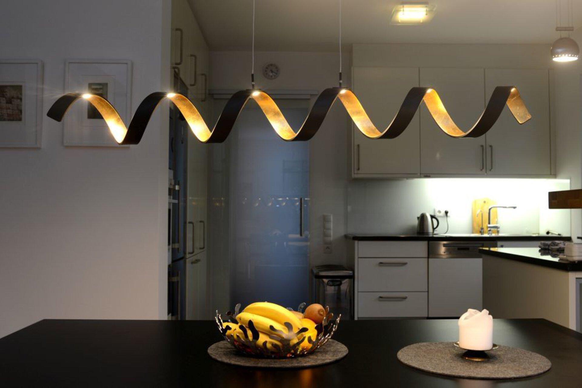Hängeleuchte Helix LED-Helix-S6 Eco-Light Metall schwarz 13 x 120 x 125 cm