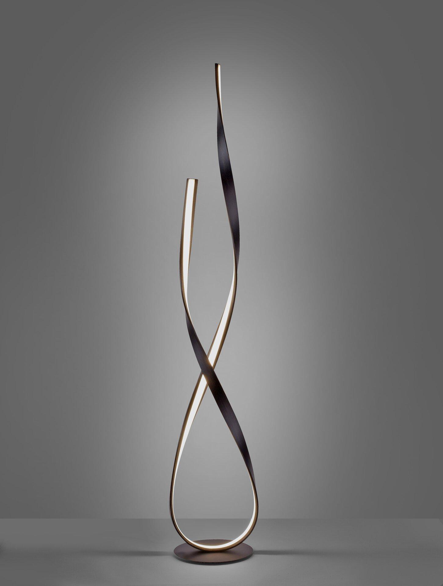 Stehleuchte LINDA Paul Neuhaus Metall schwarz 23 x 140 x 23 cm