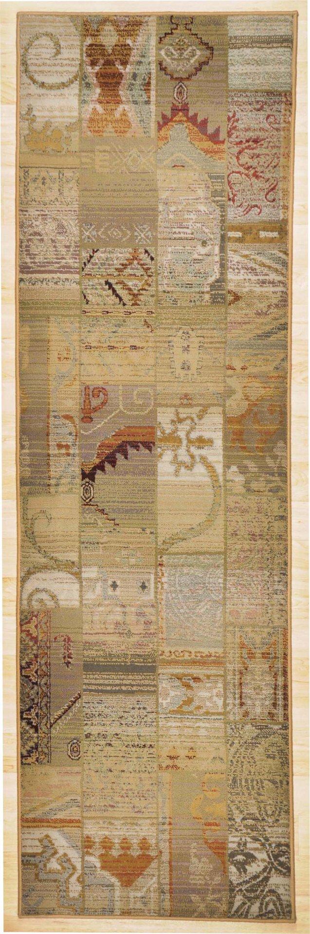 Maschinenwebteppich Gabiro Theko Textil braun 68 x 235 cm