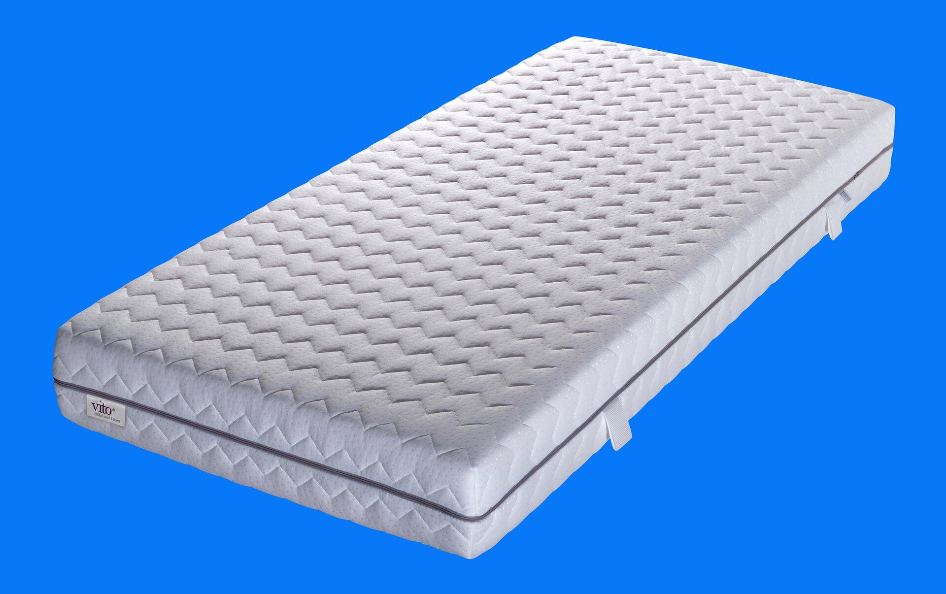 Komfortschaummatratze Sensio Perfect Vito Textil weiß 80 x 22 x 200 cm