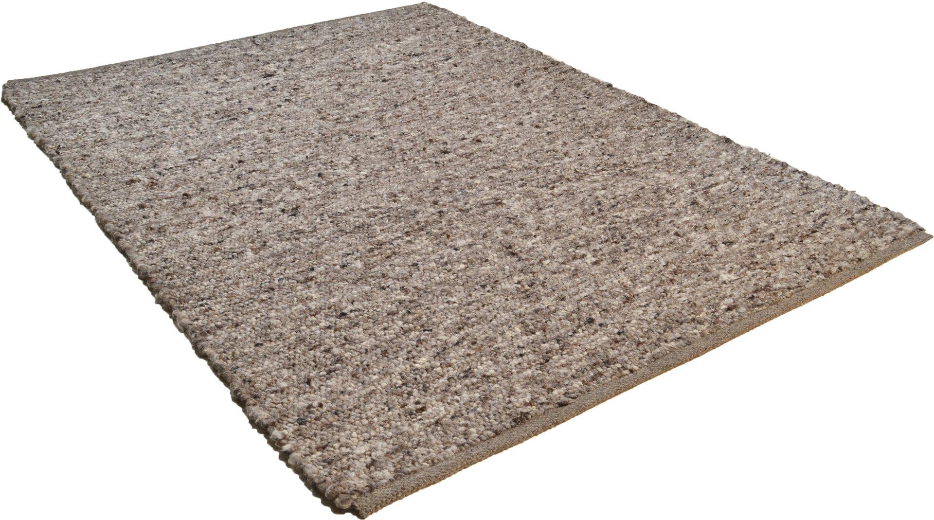 Handwebteppich Woll-Lust Theko Textil grau 1 x 2 cm