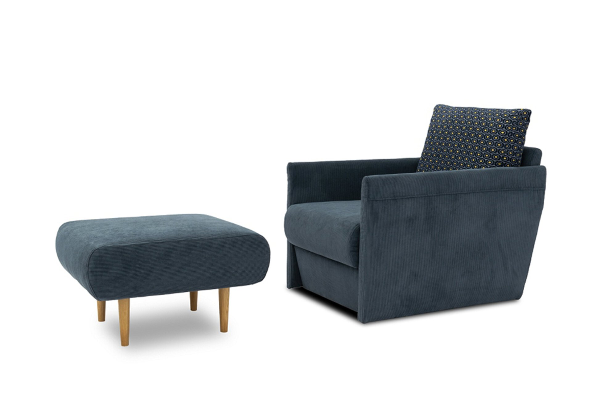 Sofa 1-Sitzer FOXTROT tiny.collection Textil 107 x 96 x 70 cm
