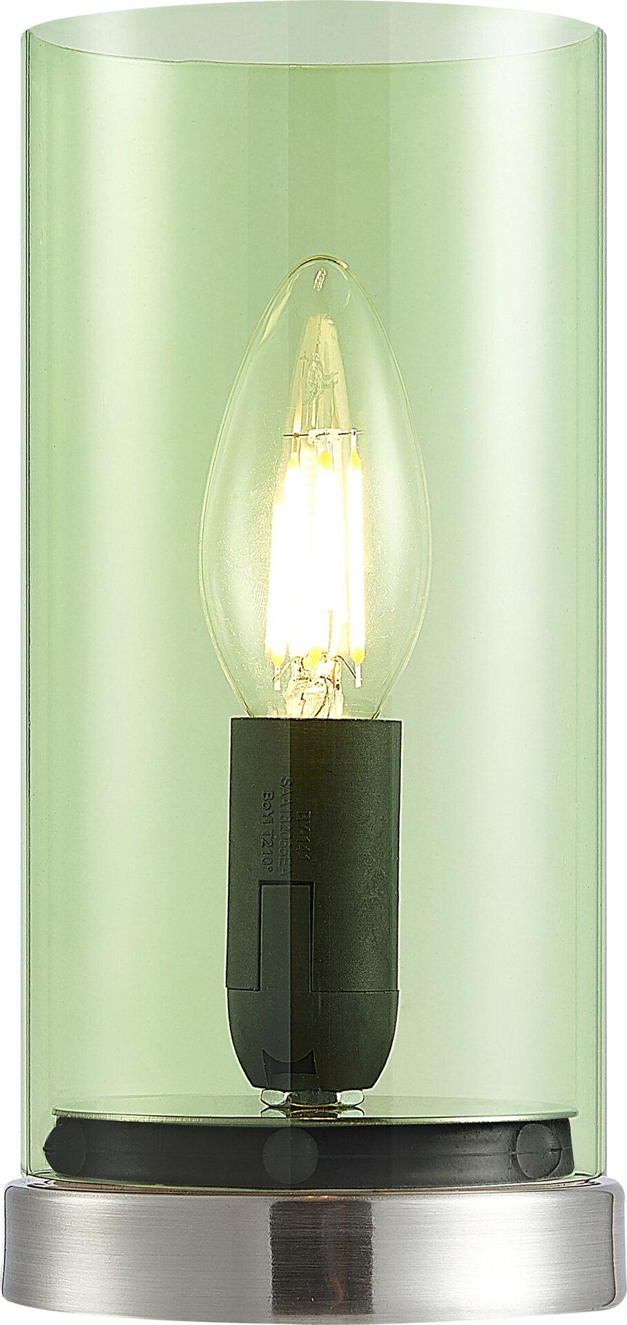 Tischleuchte LAIK Nino Leuchten Glas silber 9 x 20 x 9 cm