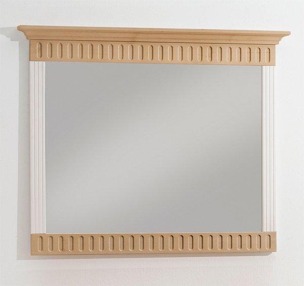 Spiegel Dreamoro Holzwerkstoff Kiefer massiv Weiss ca. 7 cm x 86 cm x 105 cm