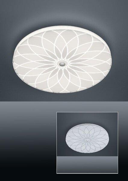 Deckenleuchte Bankamp Metall weiß mit Muster ca. 52 cm x 6 cm x 52 cm