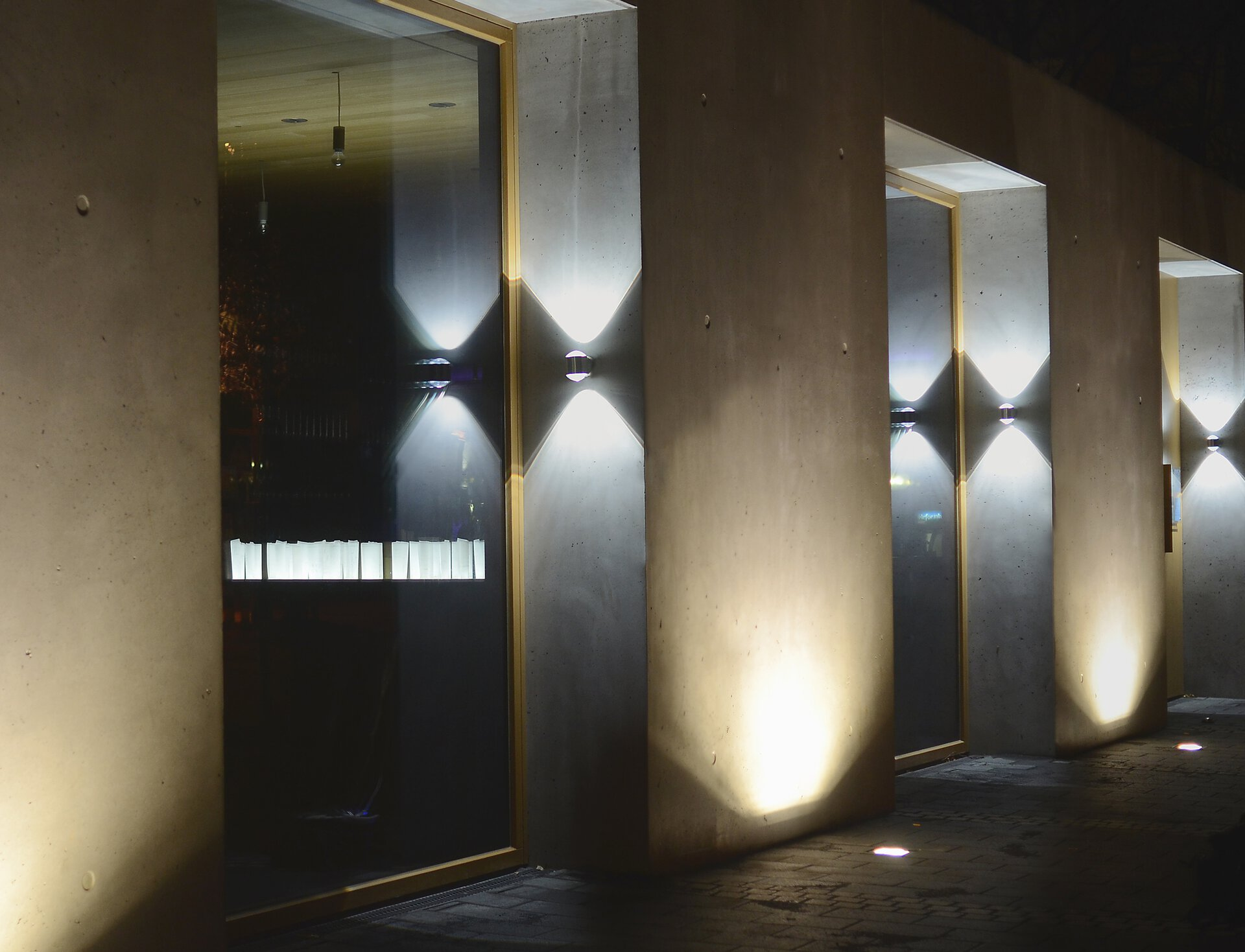 Wand-Aussenleuchte Crystal Eco-Light Metall silber 8 x 10 x 10 cm