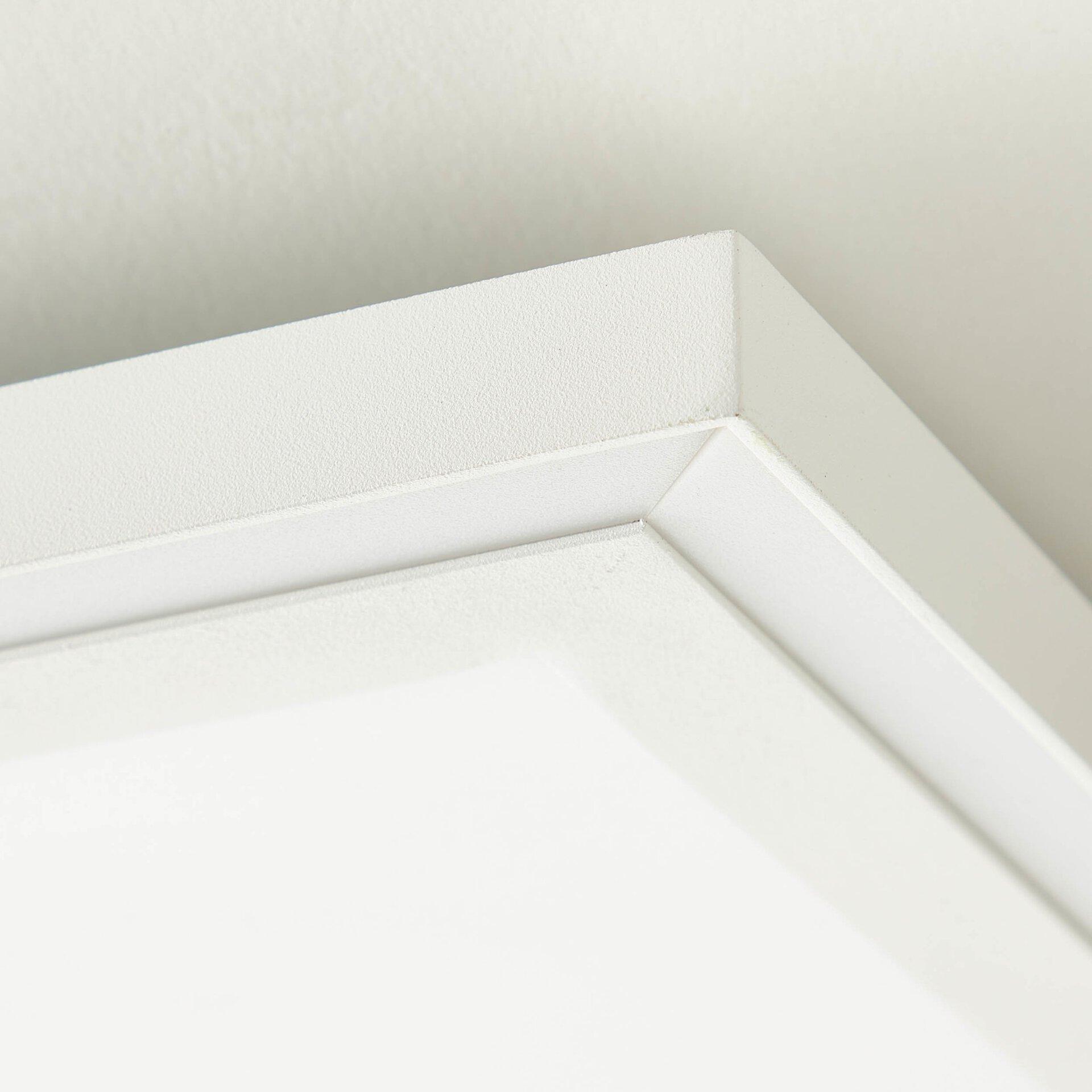Deckenleuchte LANETTE Brilliant Metall weiß 60 x 5 x 60 cm