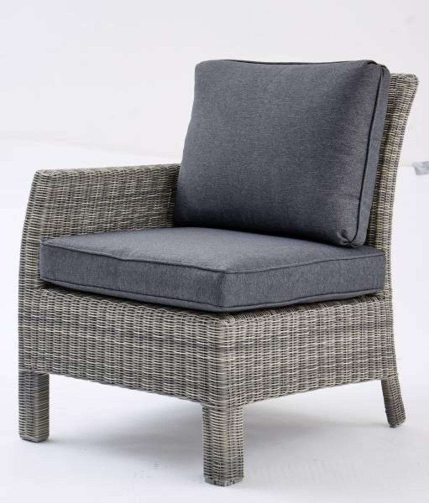 Abschlusssessel SMOKY III Outdoor Textil grau 85 x 77 x 67 cm