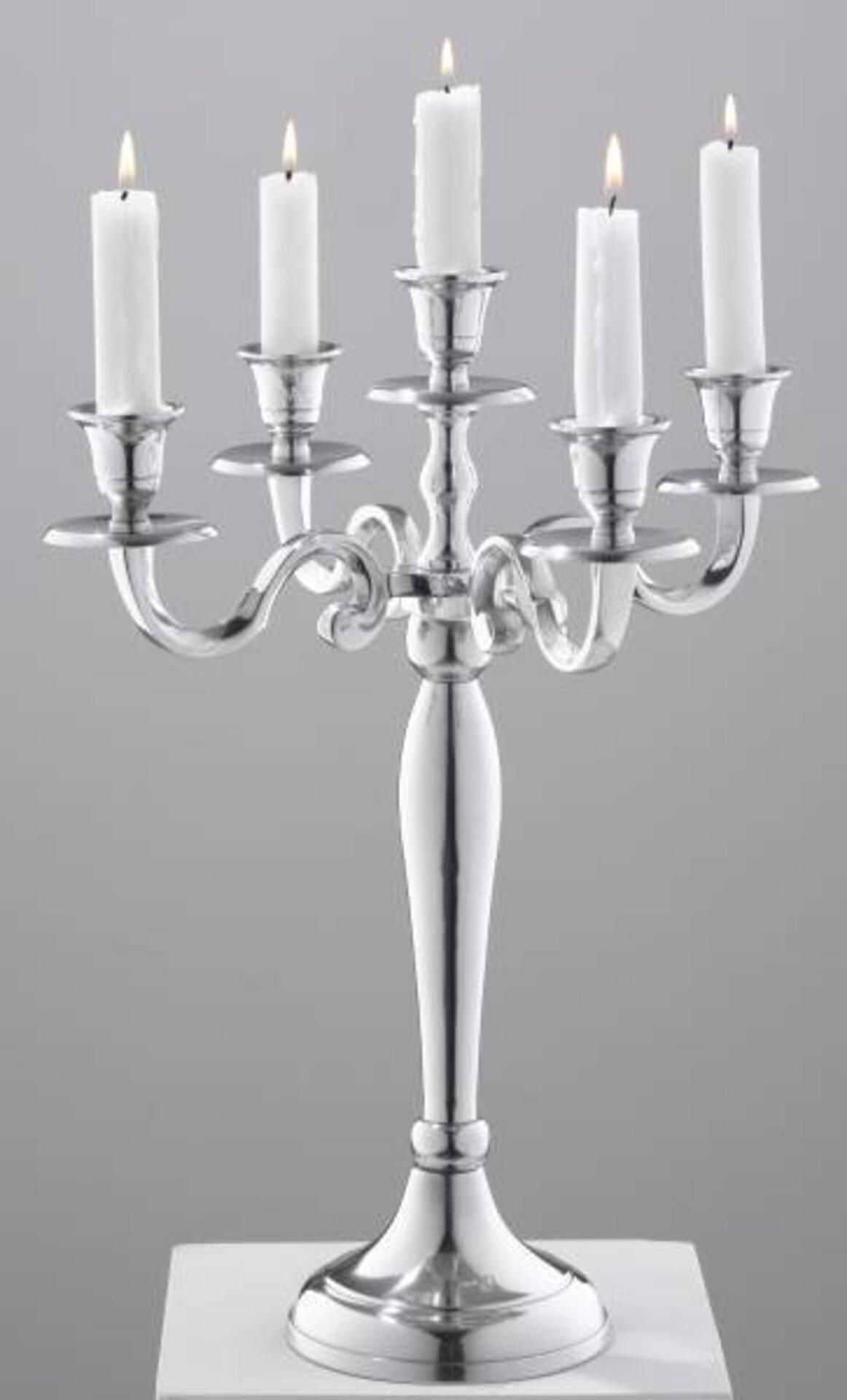 Kerzenhalter Casa Nova Metall silber 39 x