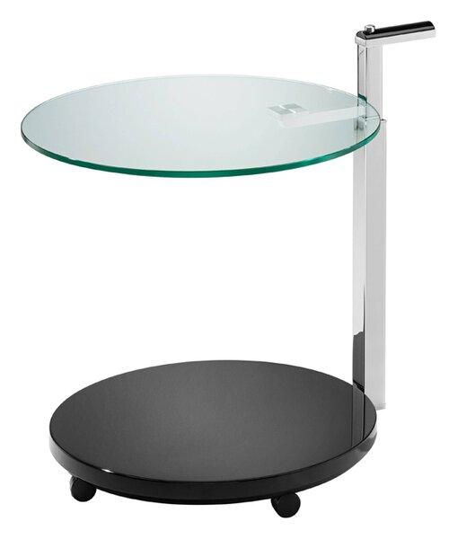 Beistelltisch Bacher Tische Glas, Metall matt tiefschwarz ca. 55 cm x 84 cm x 55 cm