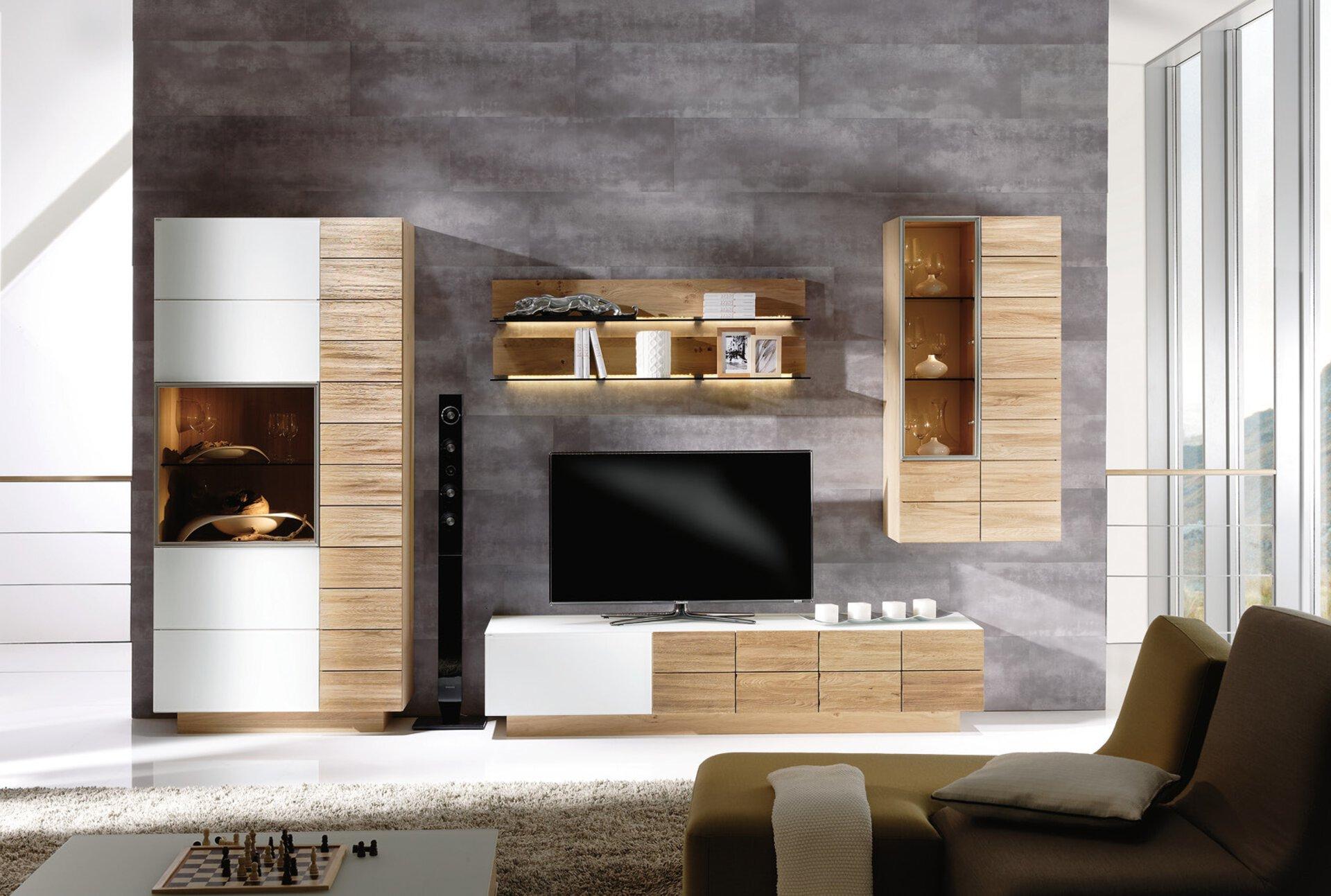 Wohnwand V-MONTANA Voglauer Holzwerkstoff mehrfarbig 55 x 202 x 352 cm