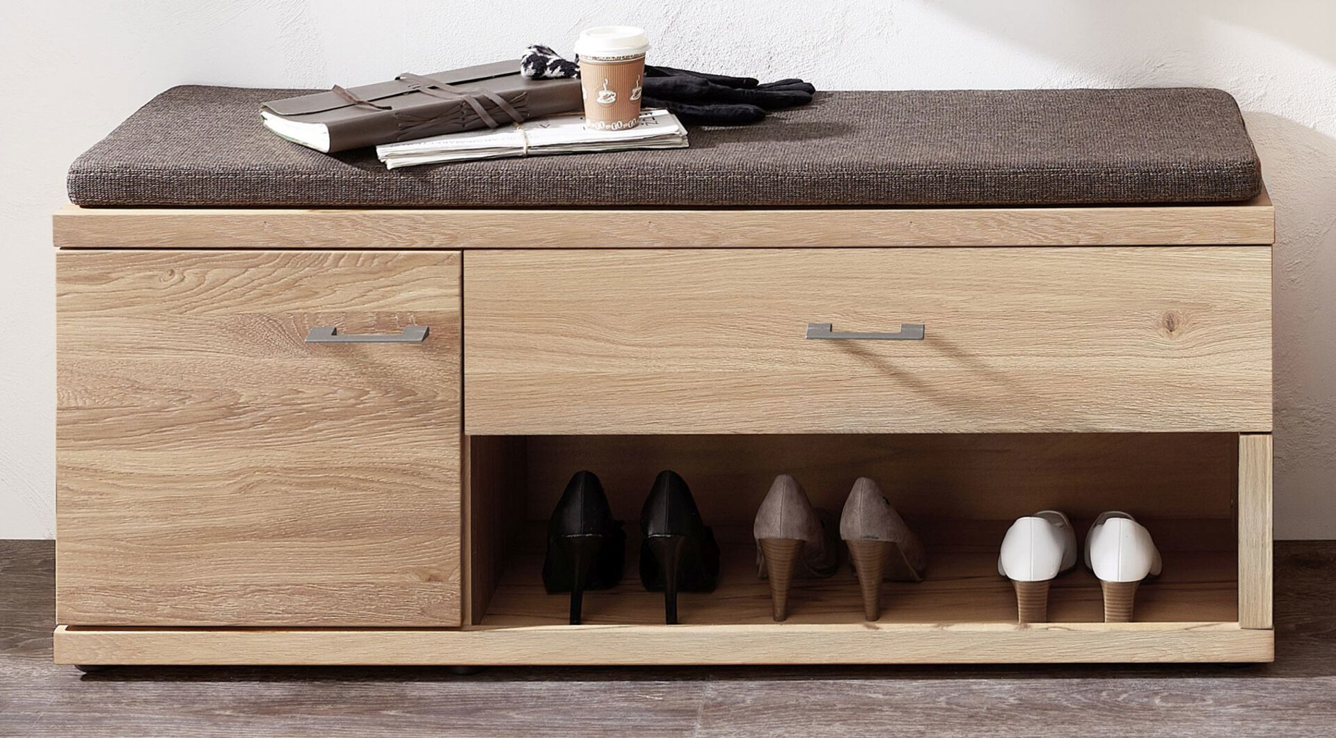 Garderobenbank Crusty Wohn-Concept Holz braun 1 cm