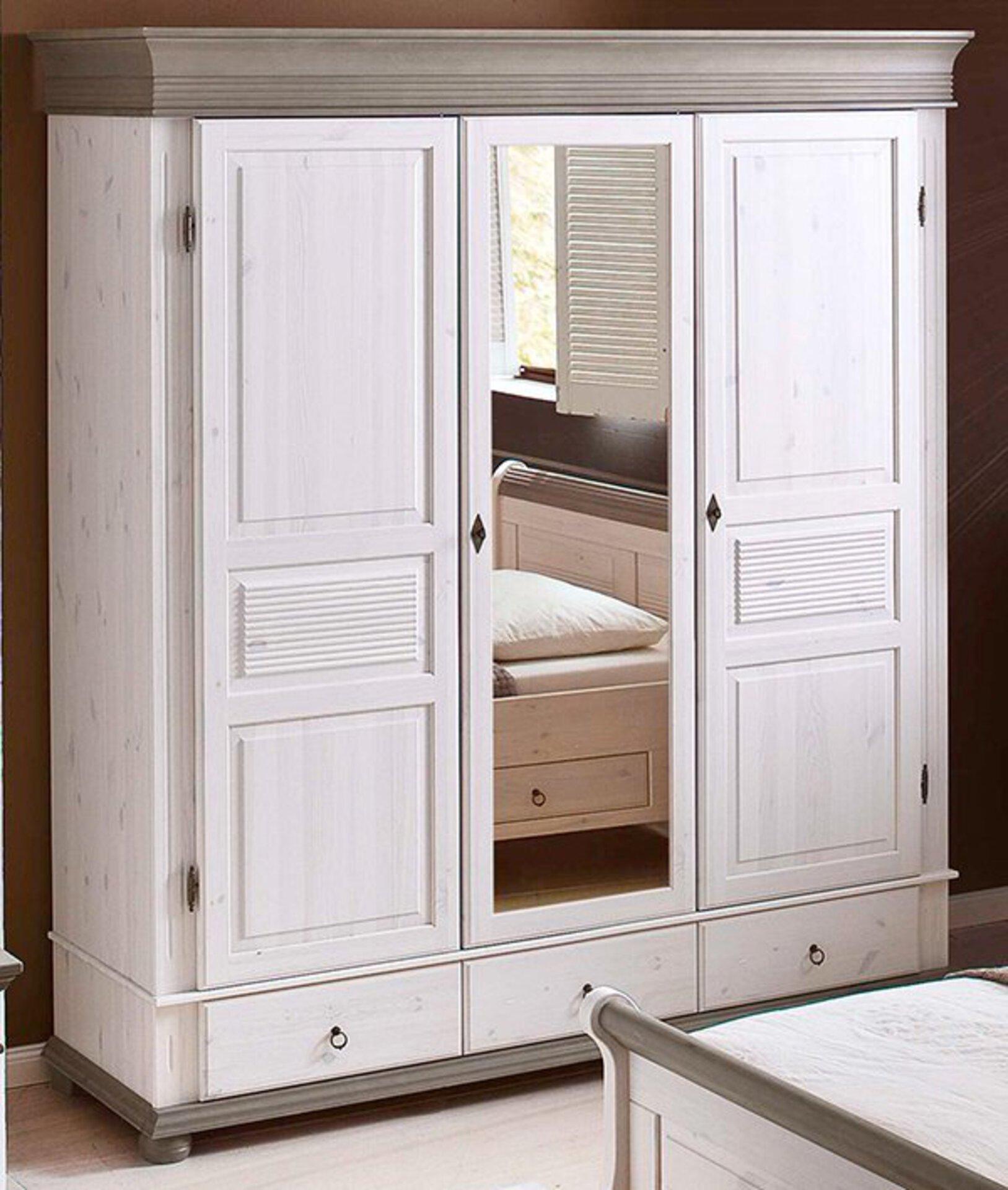 Kleiderschrank OSLO Dreamoro Holz weiß