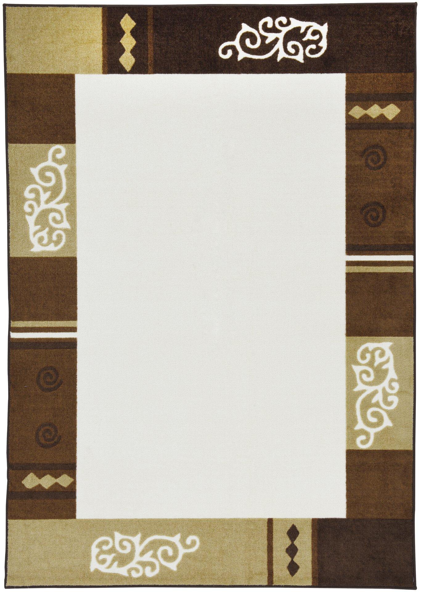 Maschinenwebteppich Versailles Theko Textil braun 1 x 2 cm