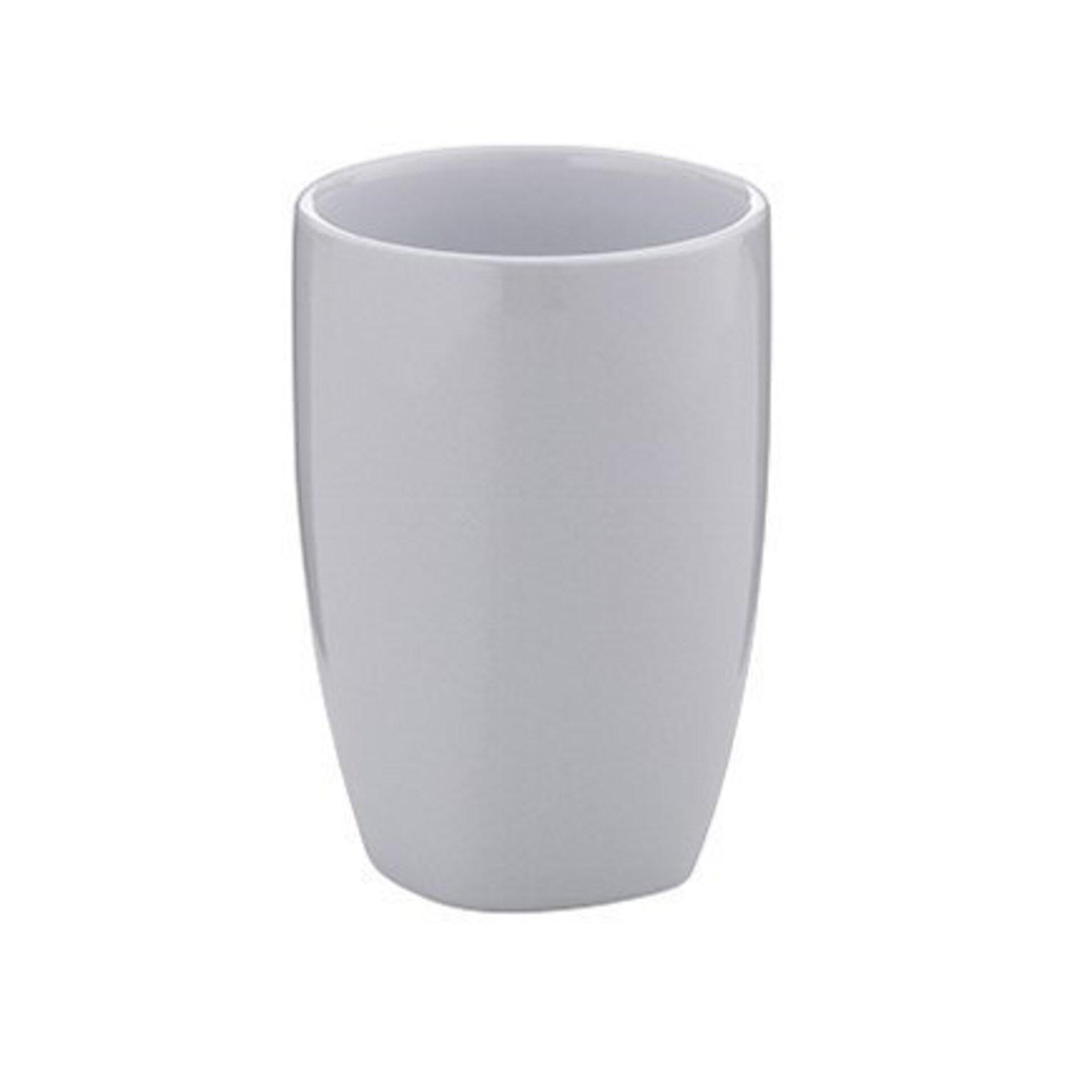 Zahnputzbecher Landora Kela Keramik grau