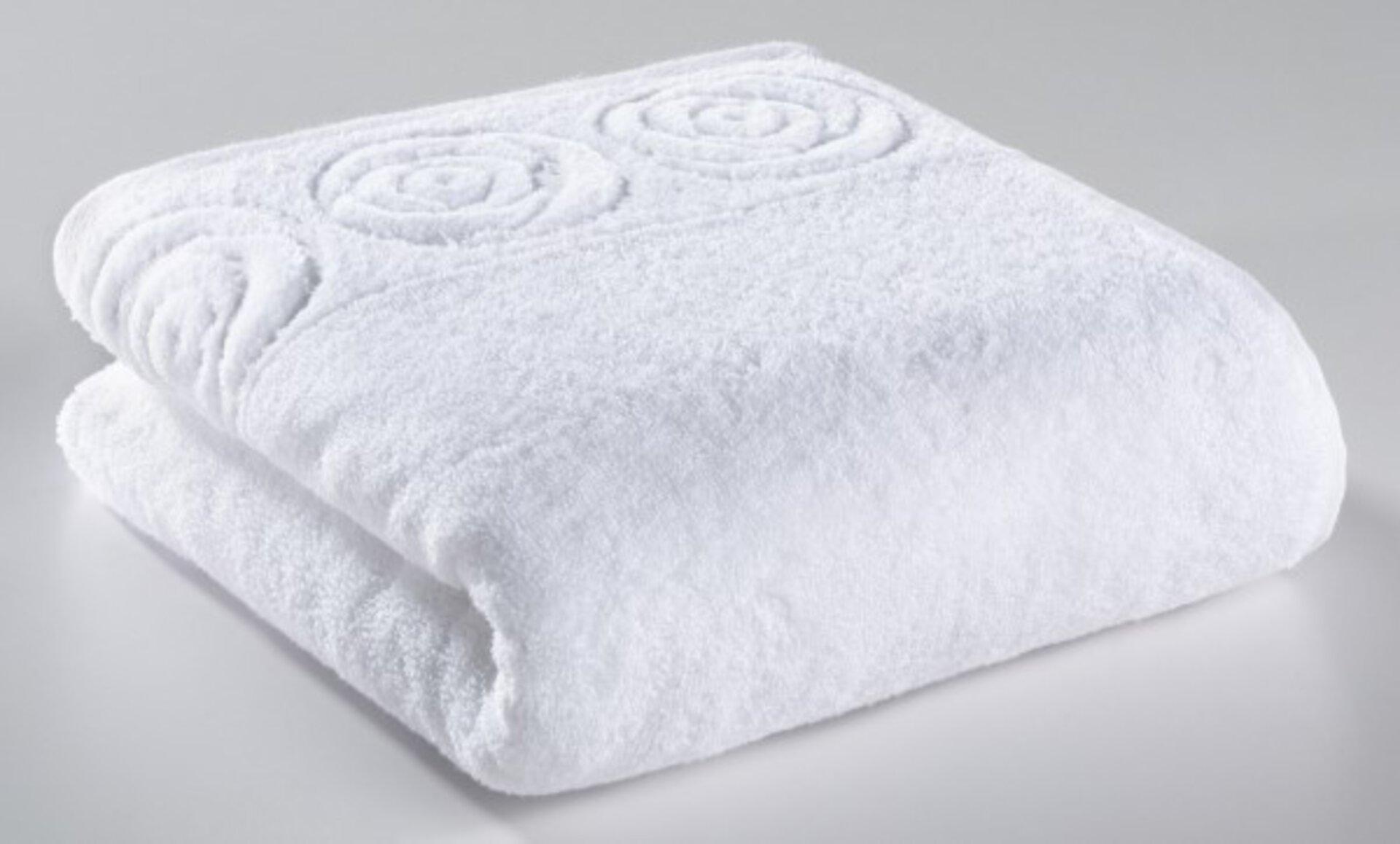 Duschtuch Rosenbordüre Casa Nova Textil weiß 70 x 140 cm