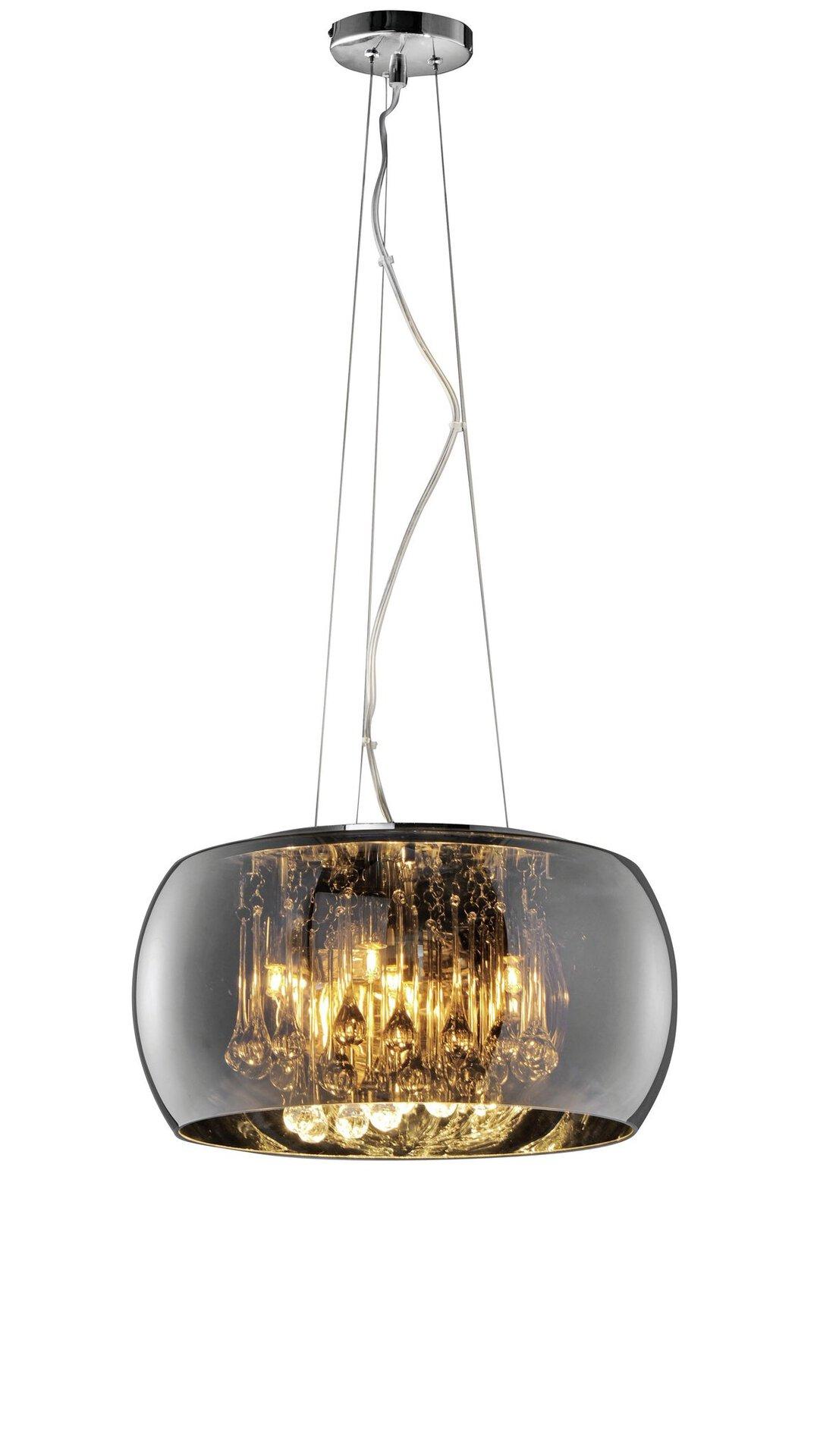 Pendelleuchte Vapore Trio Leuchten Metall silber 40 x 150 x 40 cm